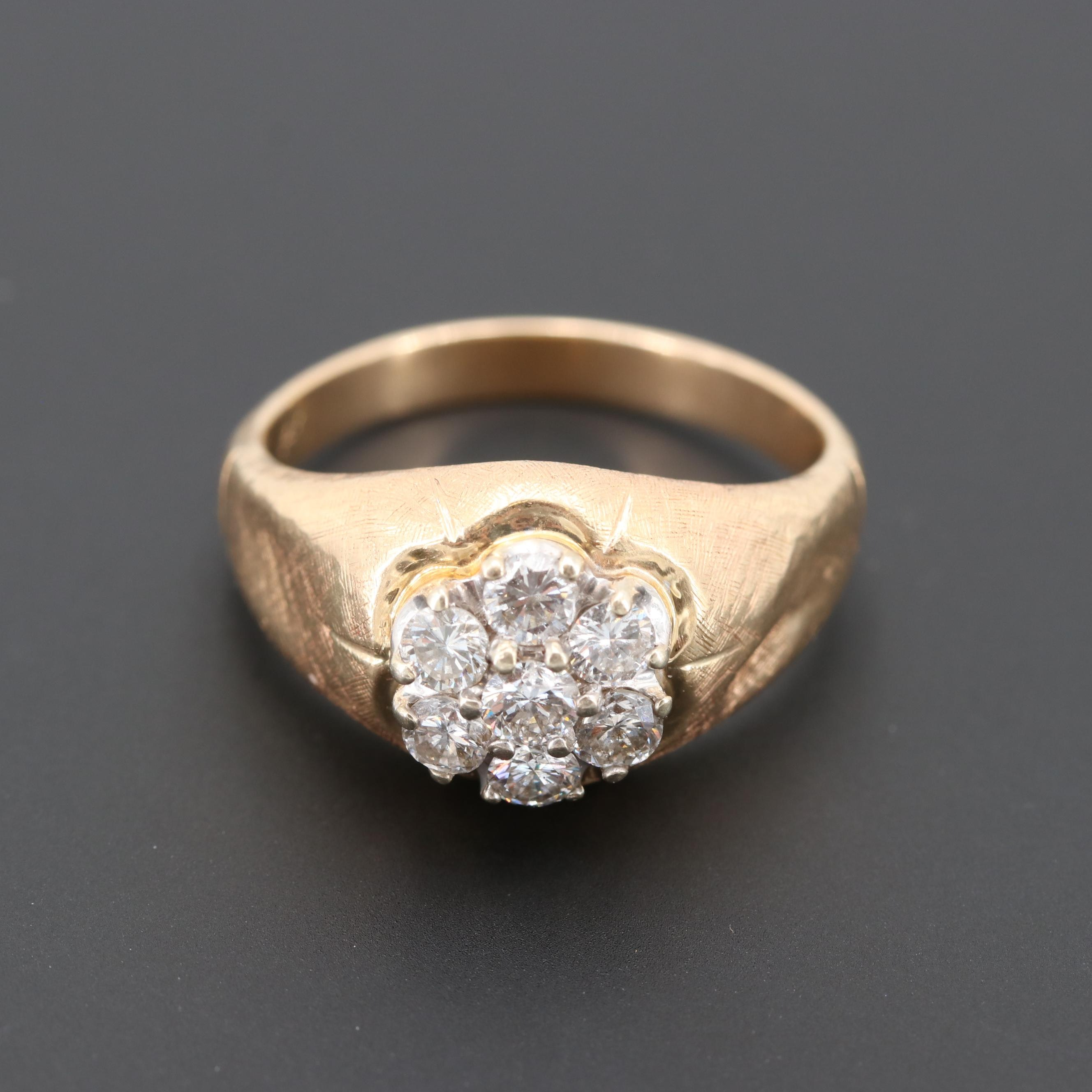 Vintage 14K Yellow Gold 1.21 CTW Diamond Ring