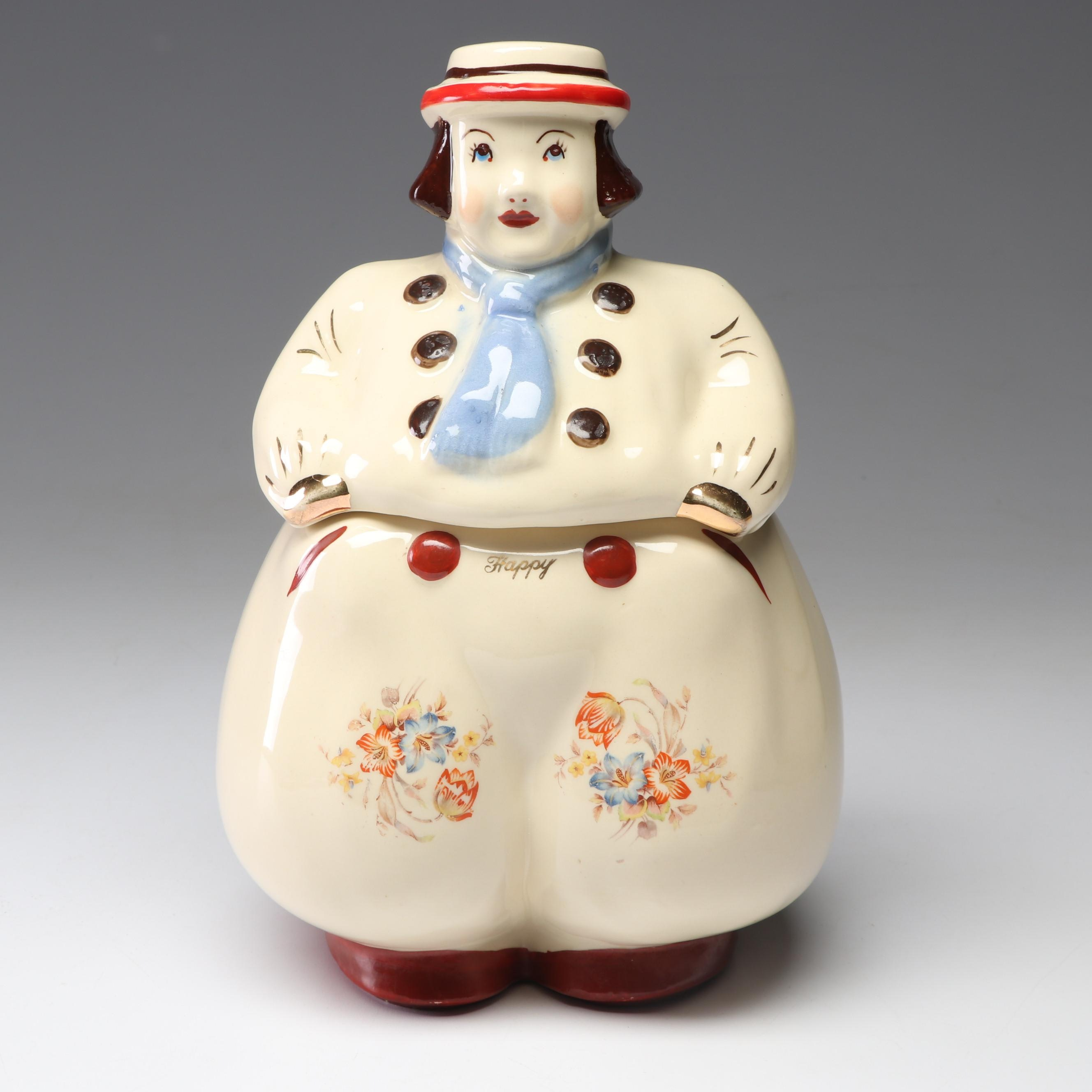 "Shawnee ""Jack"" Dutch Boy Ceramic Cookie Jar, Mid-Century"