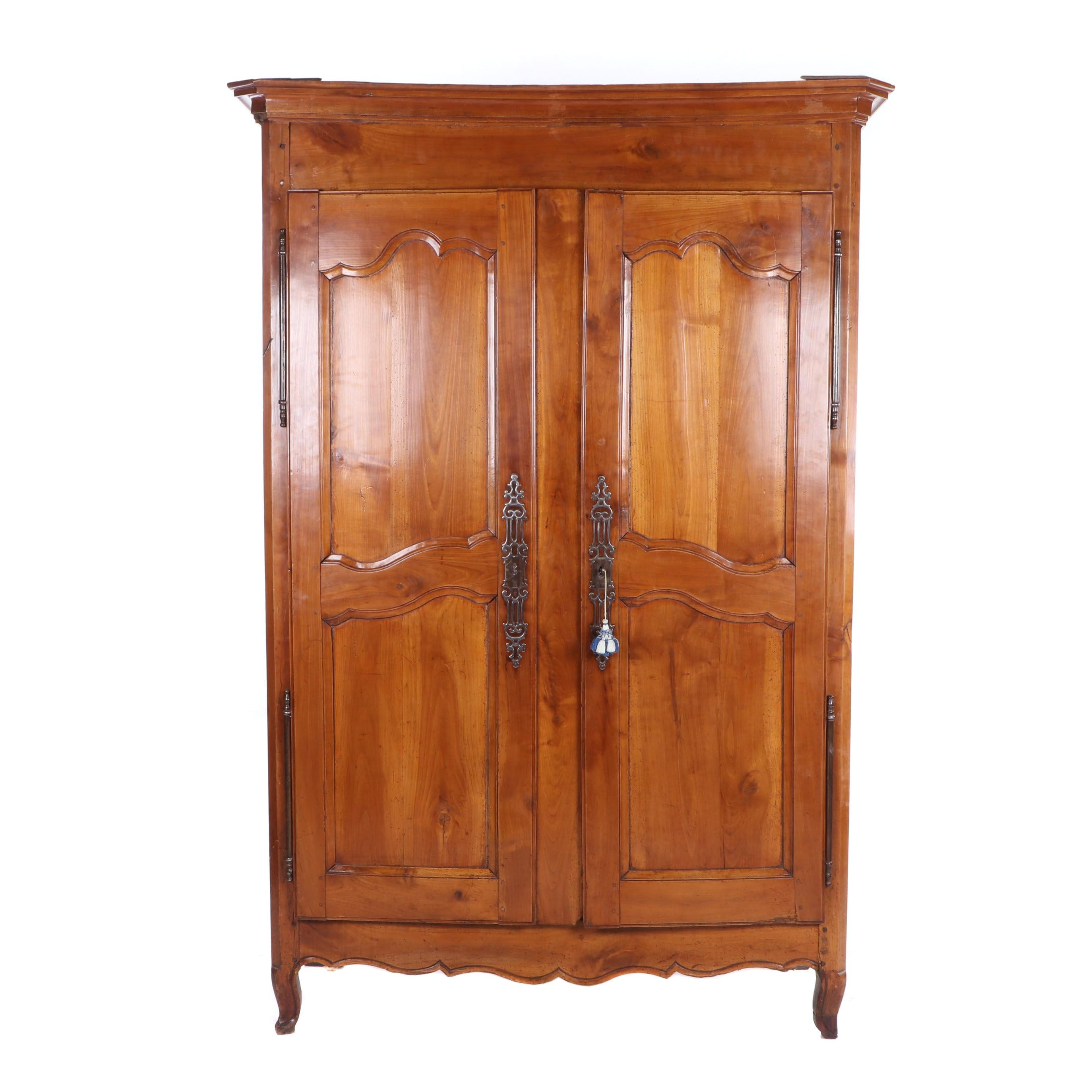 French Provincial Oak Wardrobe, Late 19th to Early 20th Century
