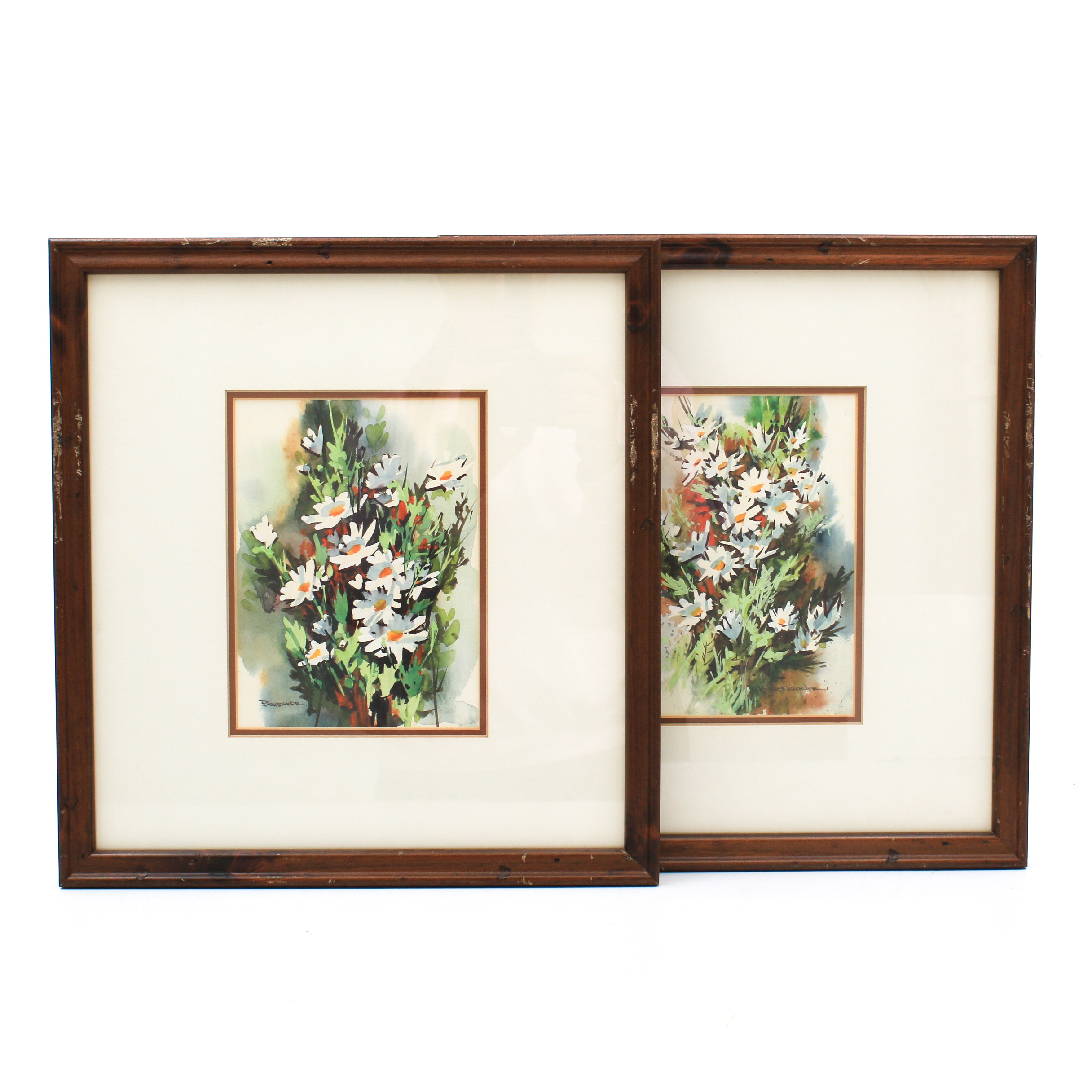Robert Brubaker Floral Watercolor and Gouache Paintings