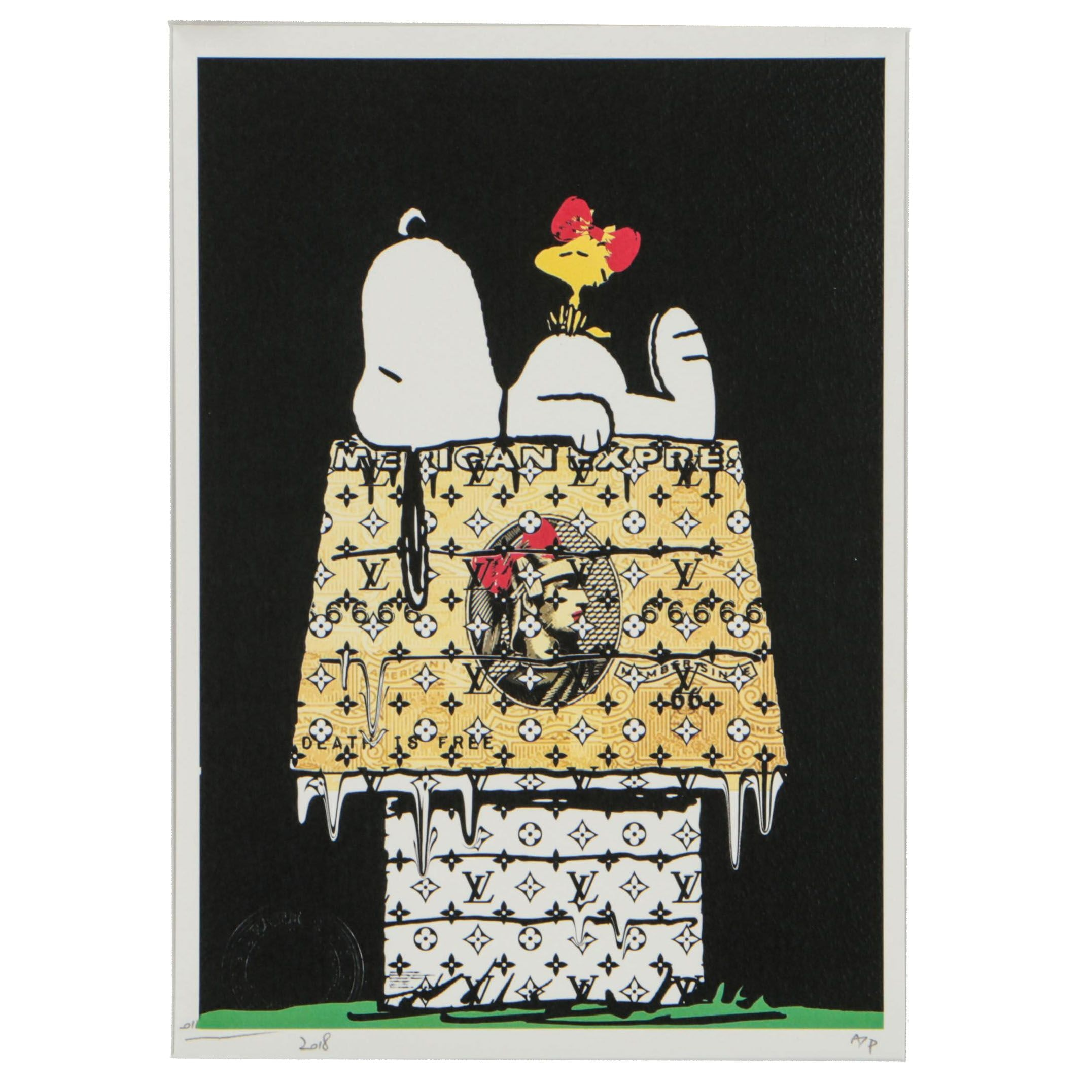 Death NYC 2018 Offset Lithograph of Snoopy