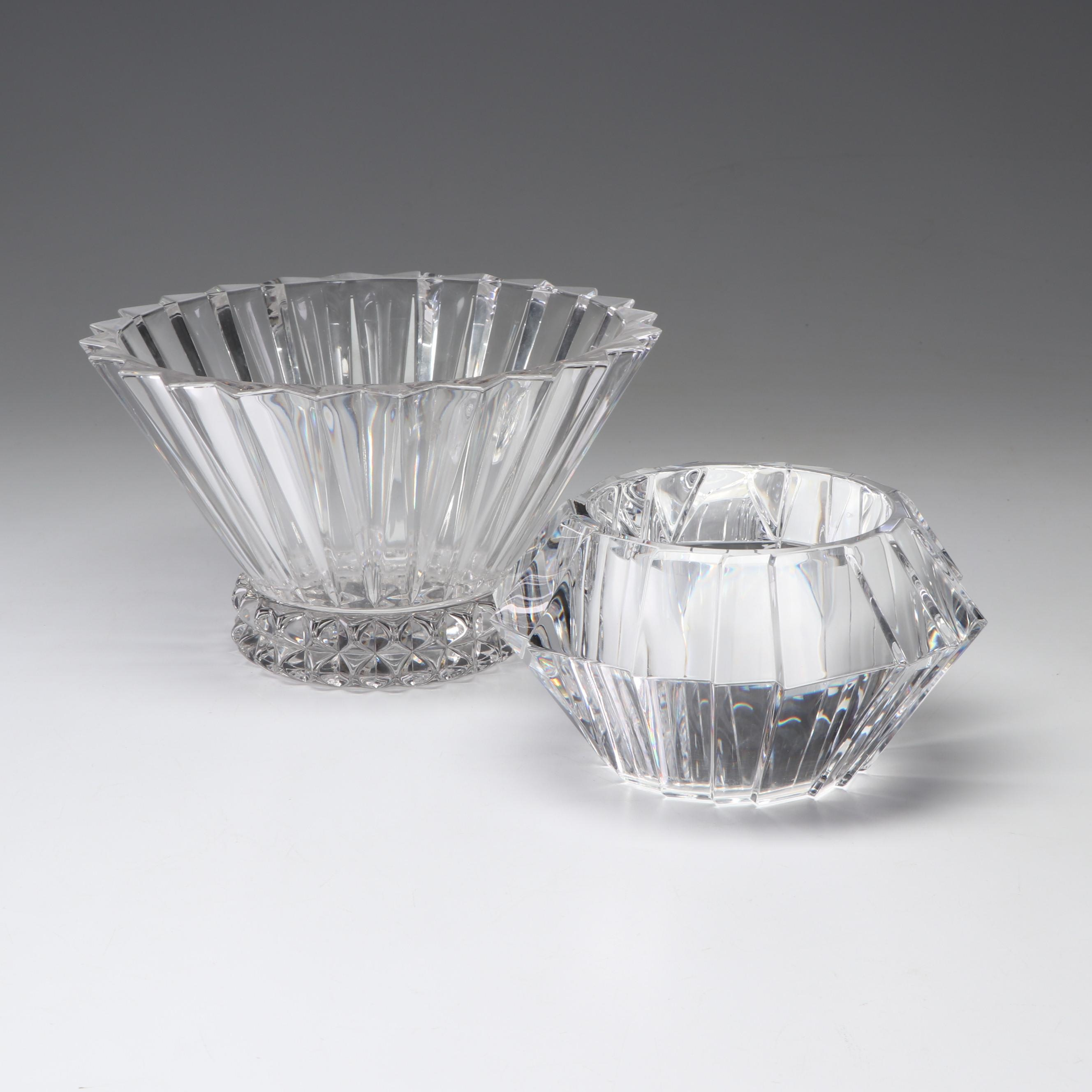 Orrefors and Rosenthal Crystal Bowls