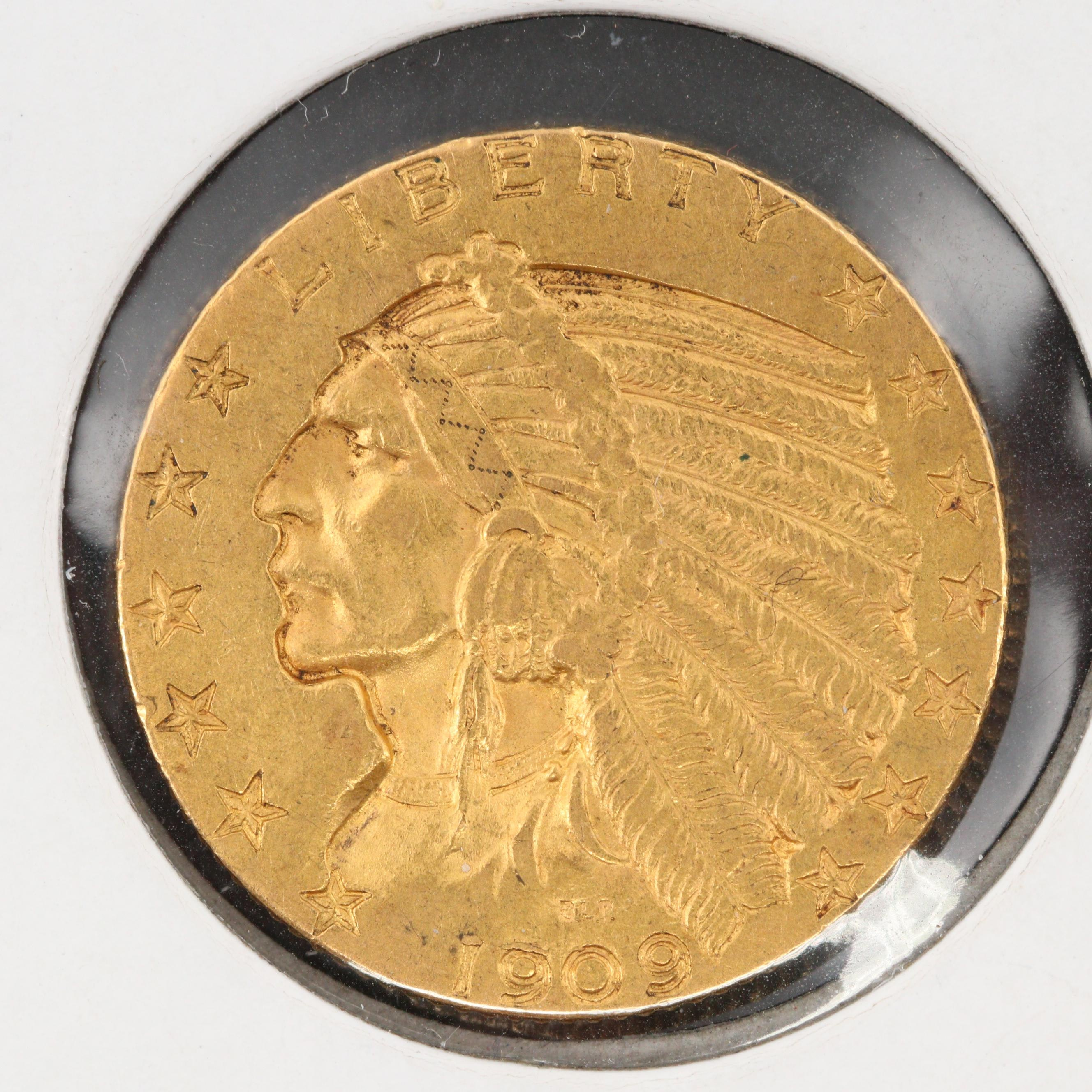 1909 Indian Head $5 Gold Coin