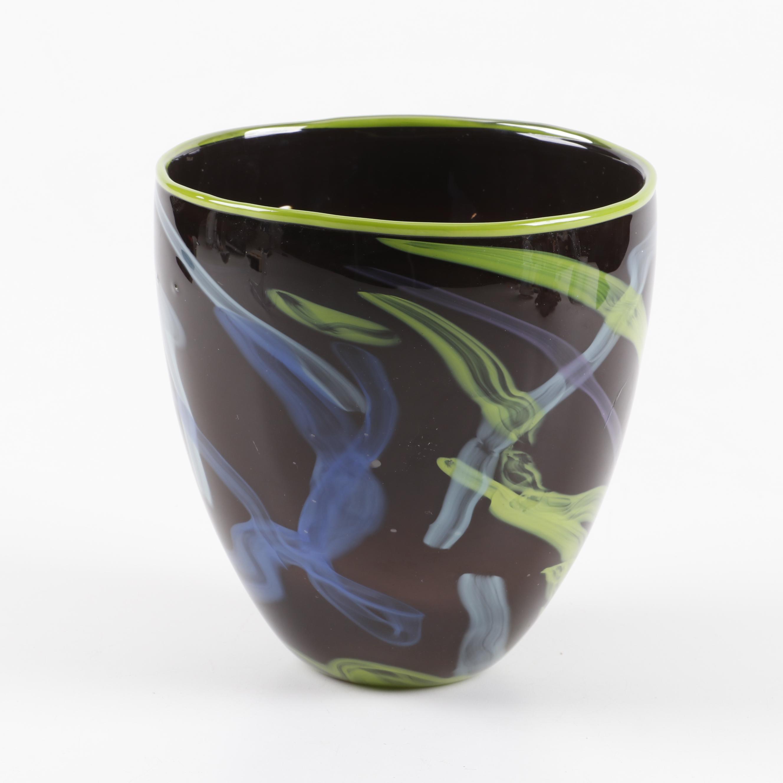 Garcia Art Glass Hand Blown Vase