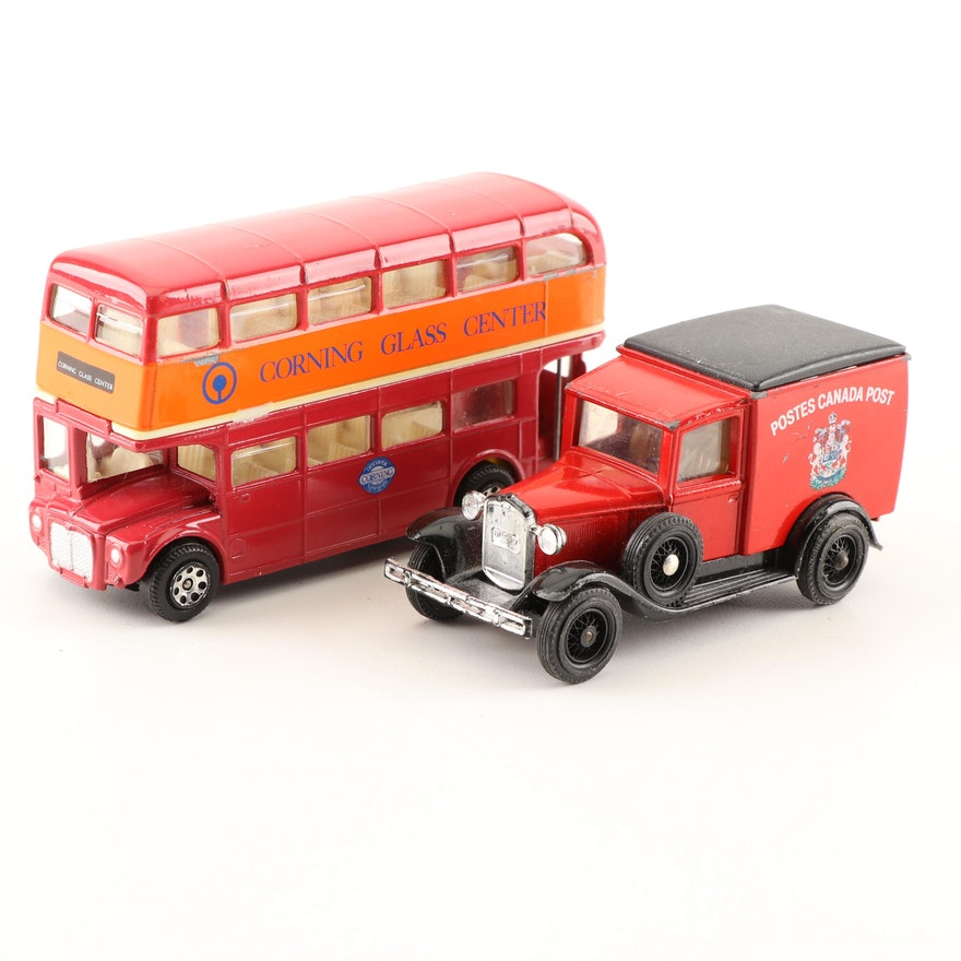 Vintage Cast Metal Toy Vehicles Featuring Matchbox and Corgi