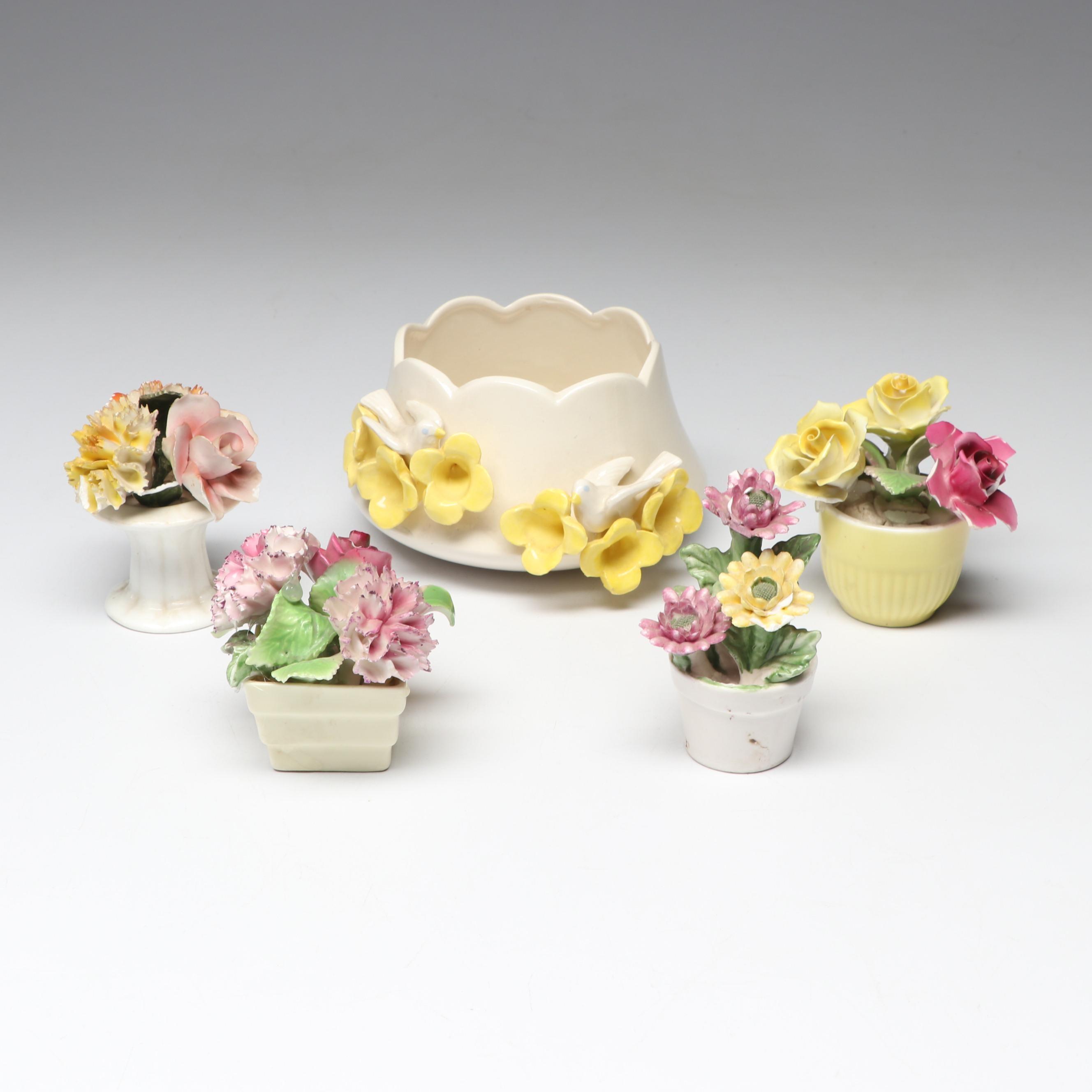Lefton, Staffordshire and Other Porcelain Floral Decor