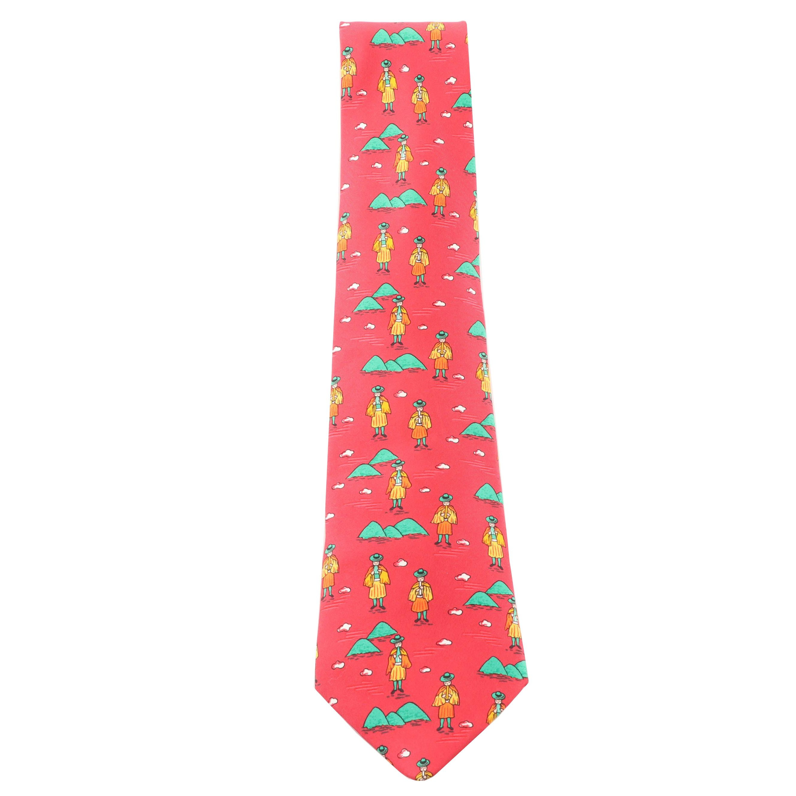 Hermès Paris 7550 SA Silk Necktie