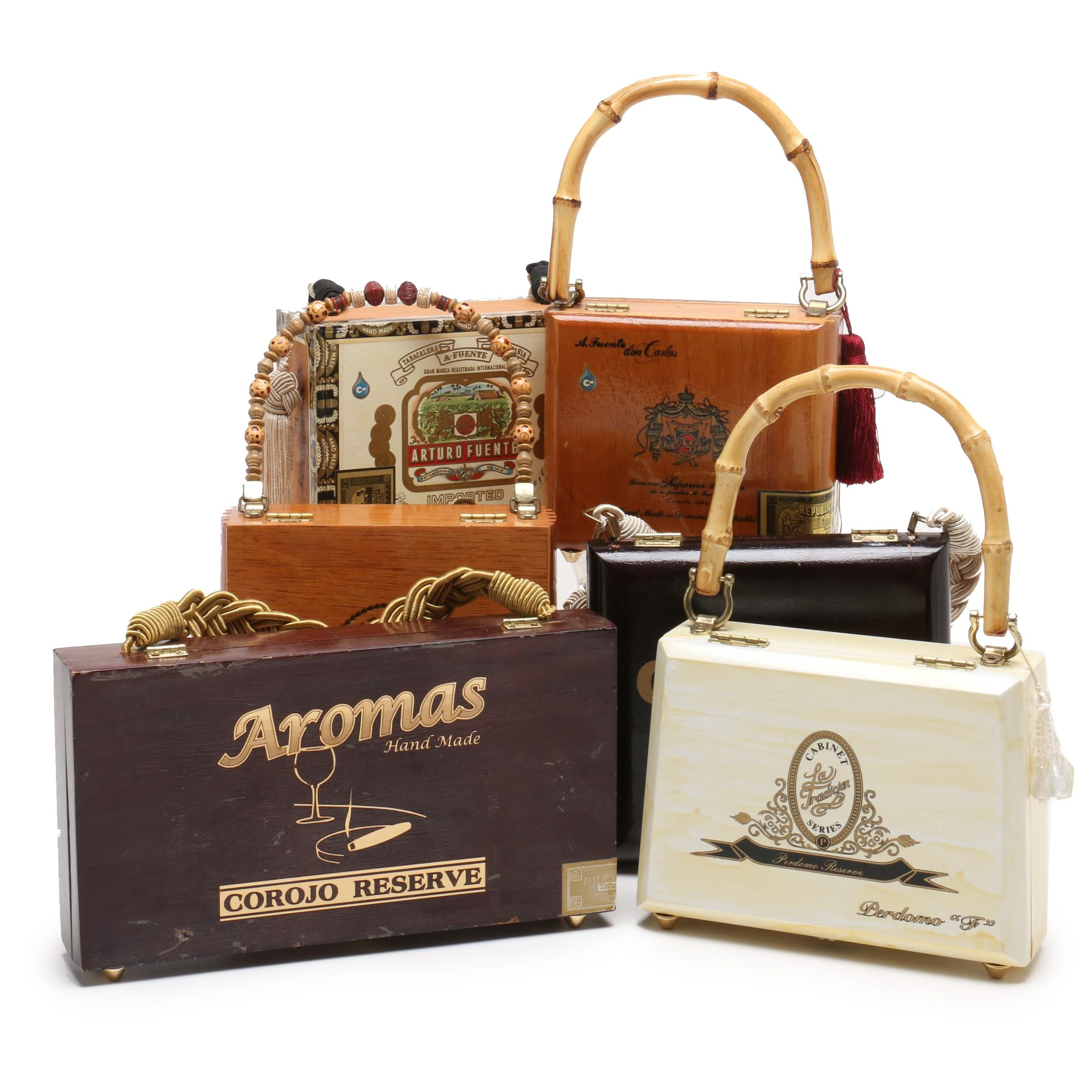 Arturo Fuente Cigar Box Purses and Other Cigar Box Purses, Late 20th Century