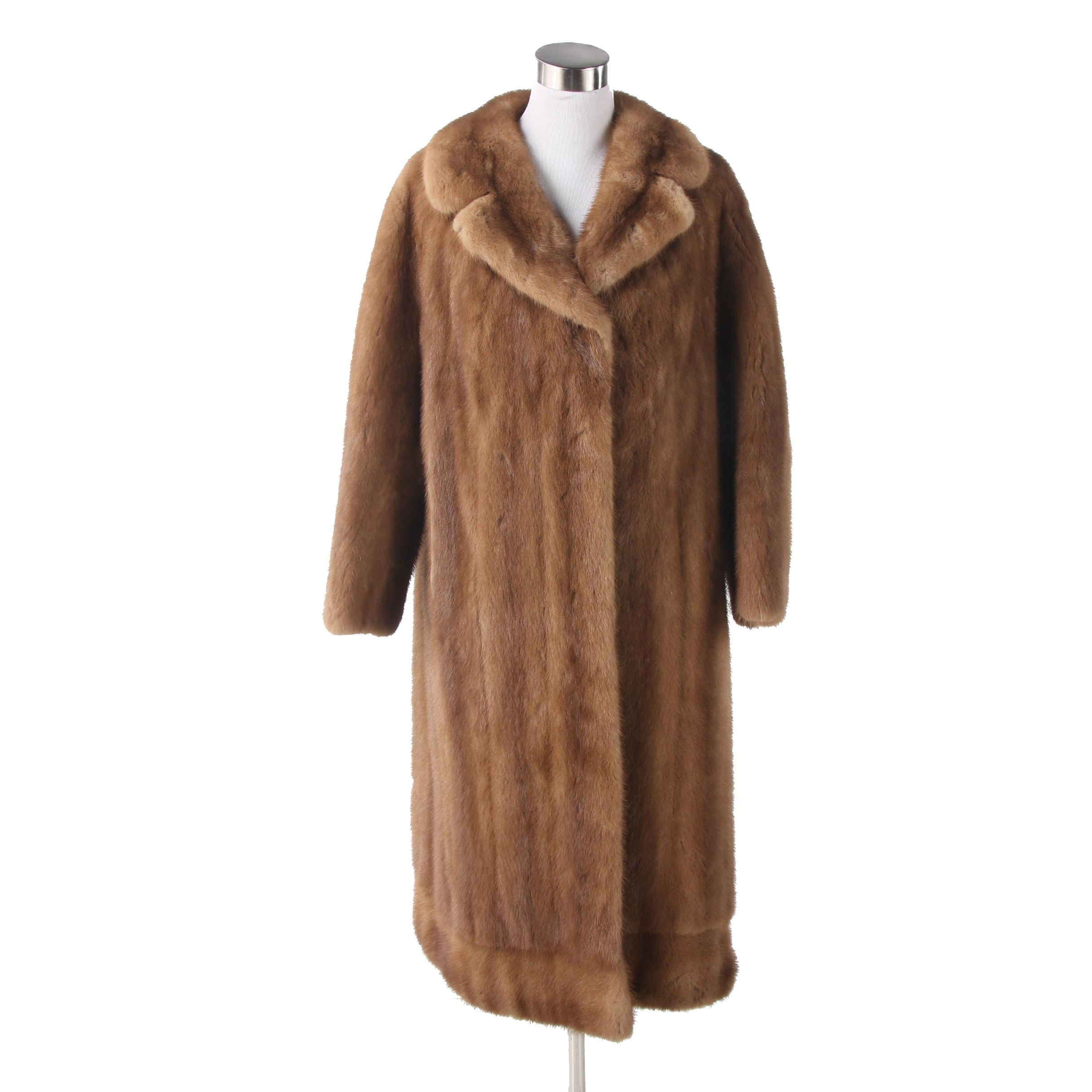 Women's Meister Klasse Tawny Mink Fur Coat, Vintage