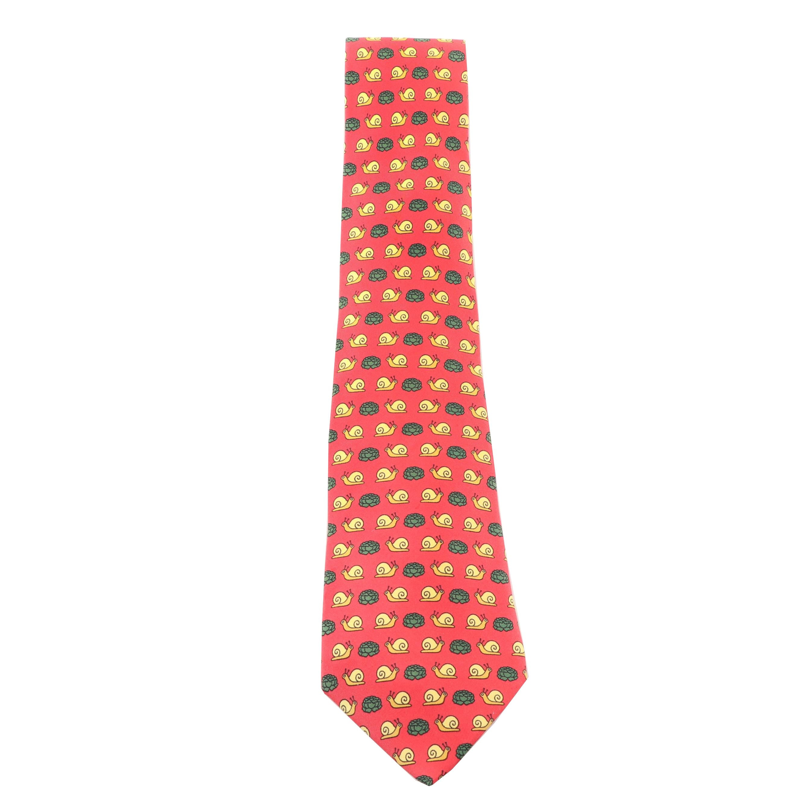 Hermès Paris 7461 HA Silk Necktie