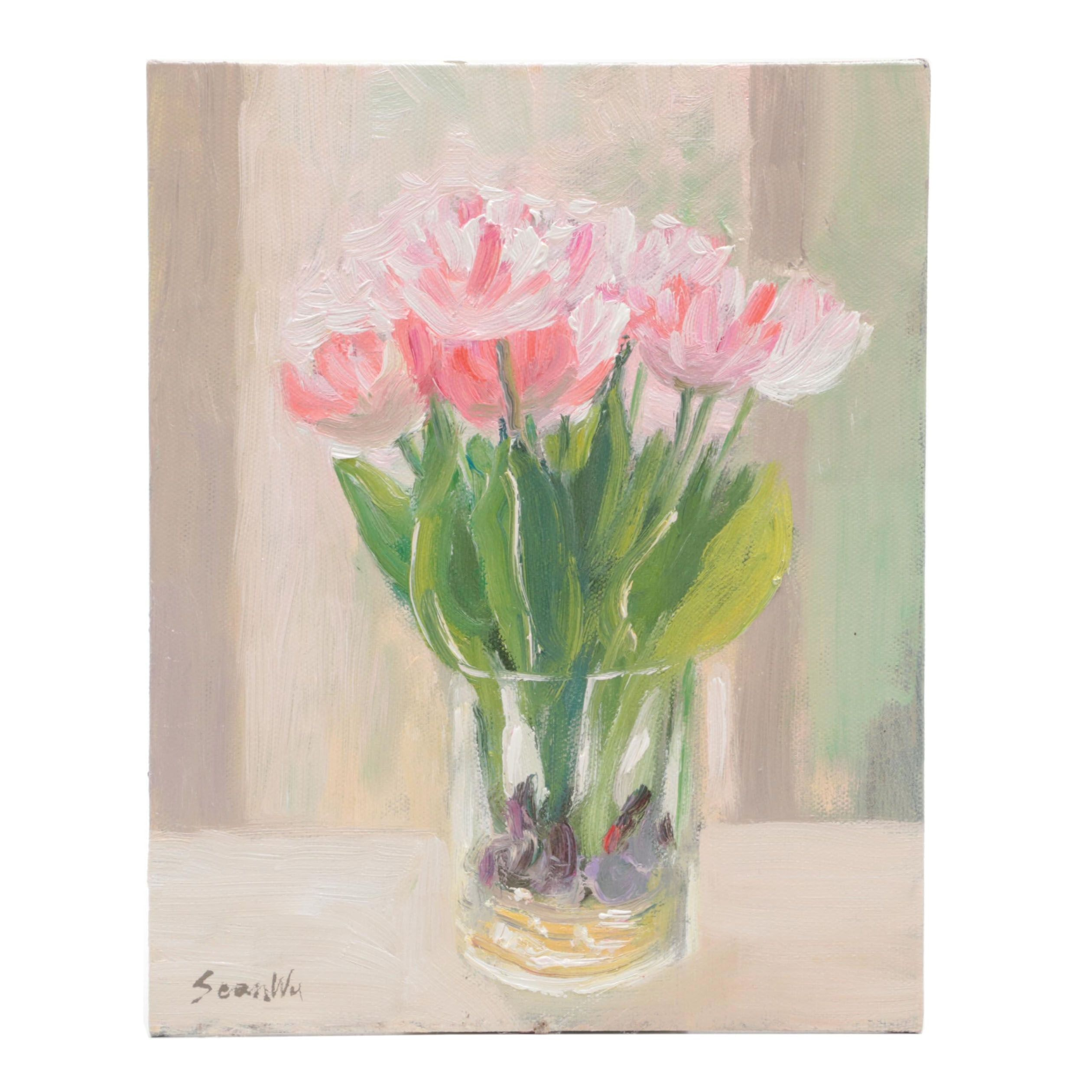 Sean Wu Floral Oil Painting
