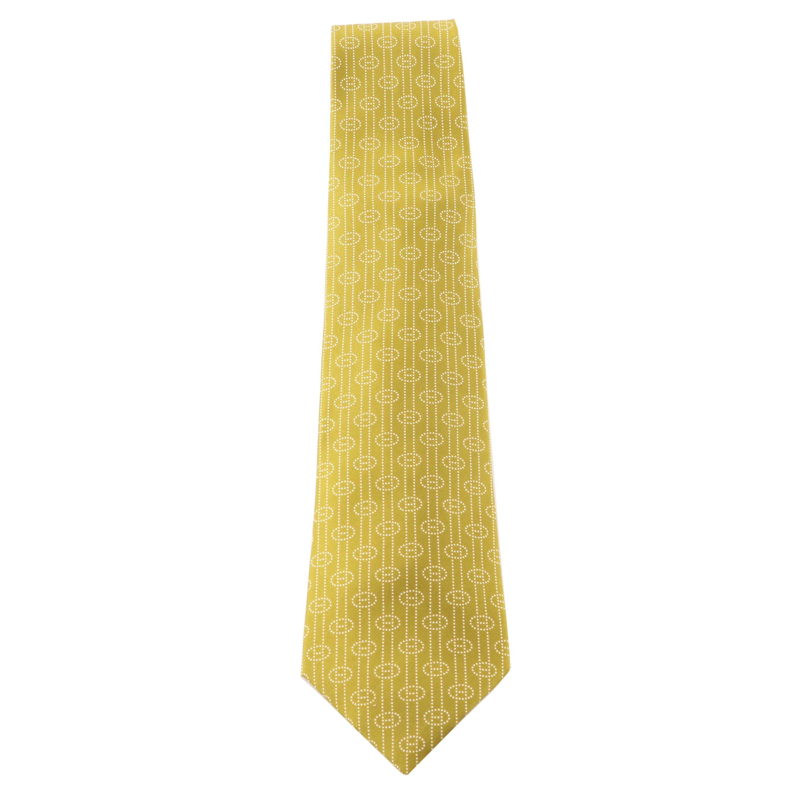 Hermès Paris 5264 SA Silk Necktie