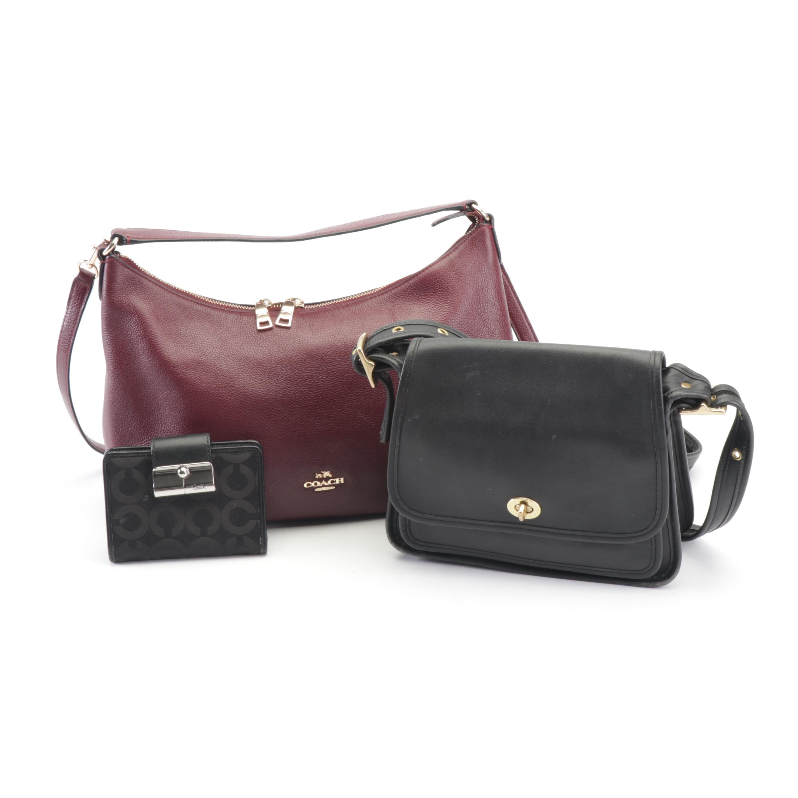 Coach Ramblers Legacy and Sutton Hobo Purses with Signature Canvas Wallet
