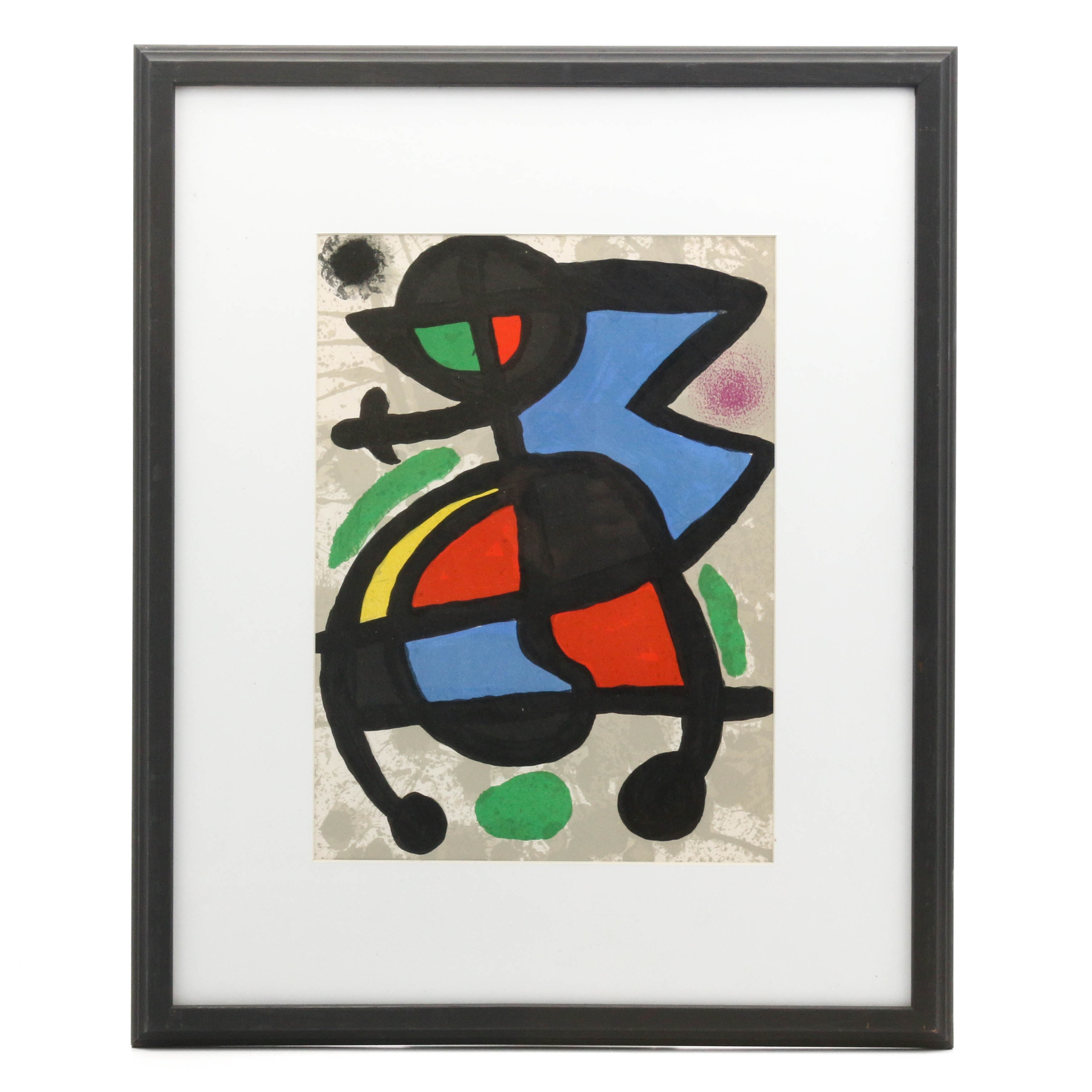 "Joan Miró Lithographic Print for ""Derrière le Miroir"""