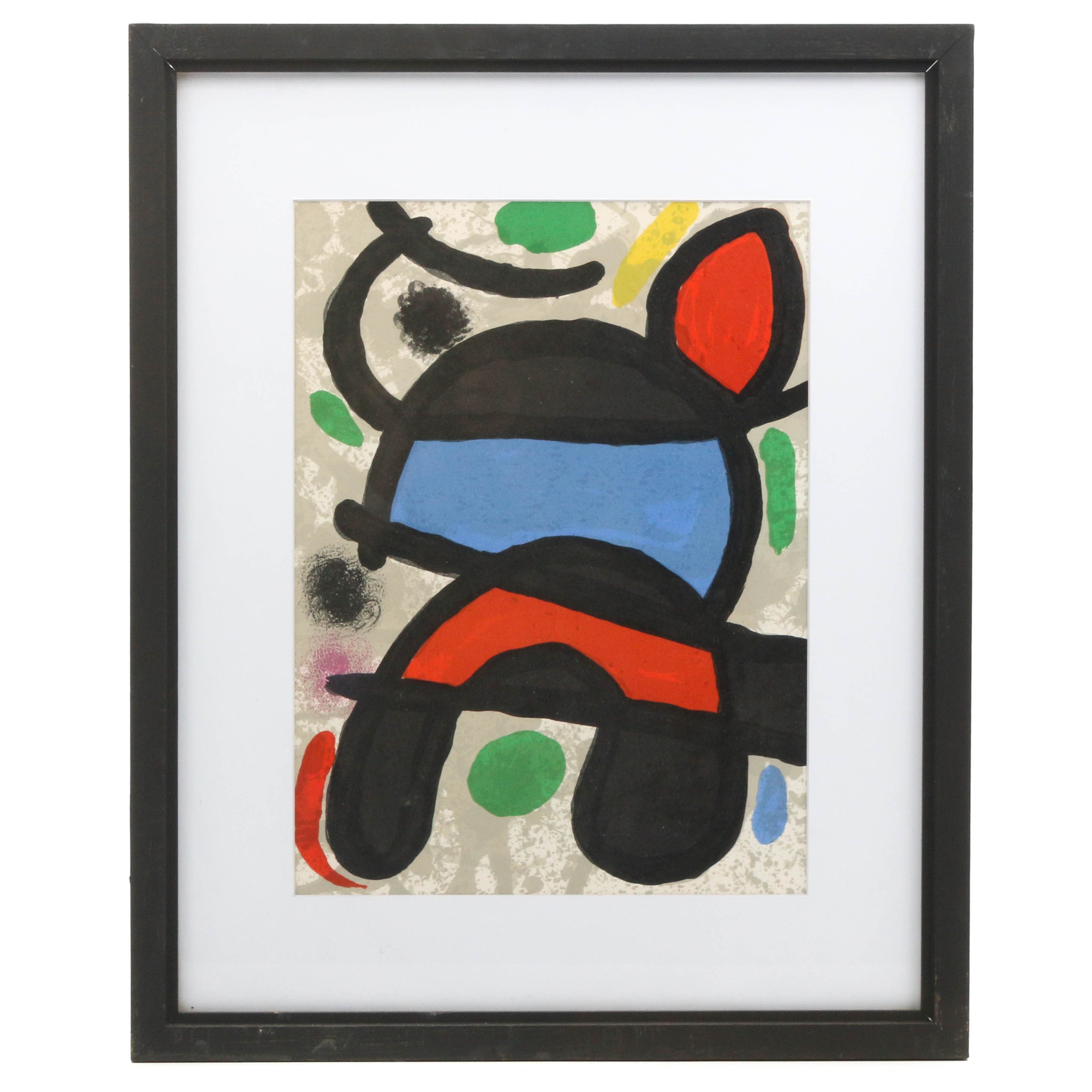 "Joan Miró Color Lithographic Print from ""Derrière le Miroir"""