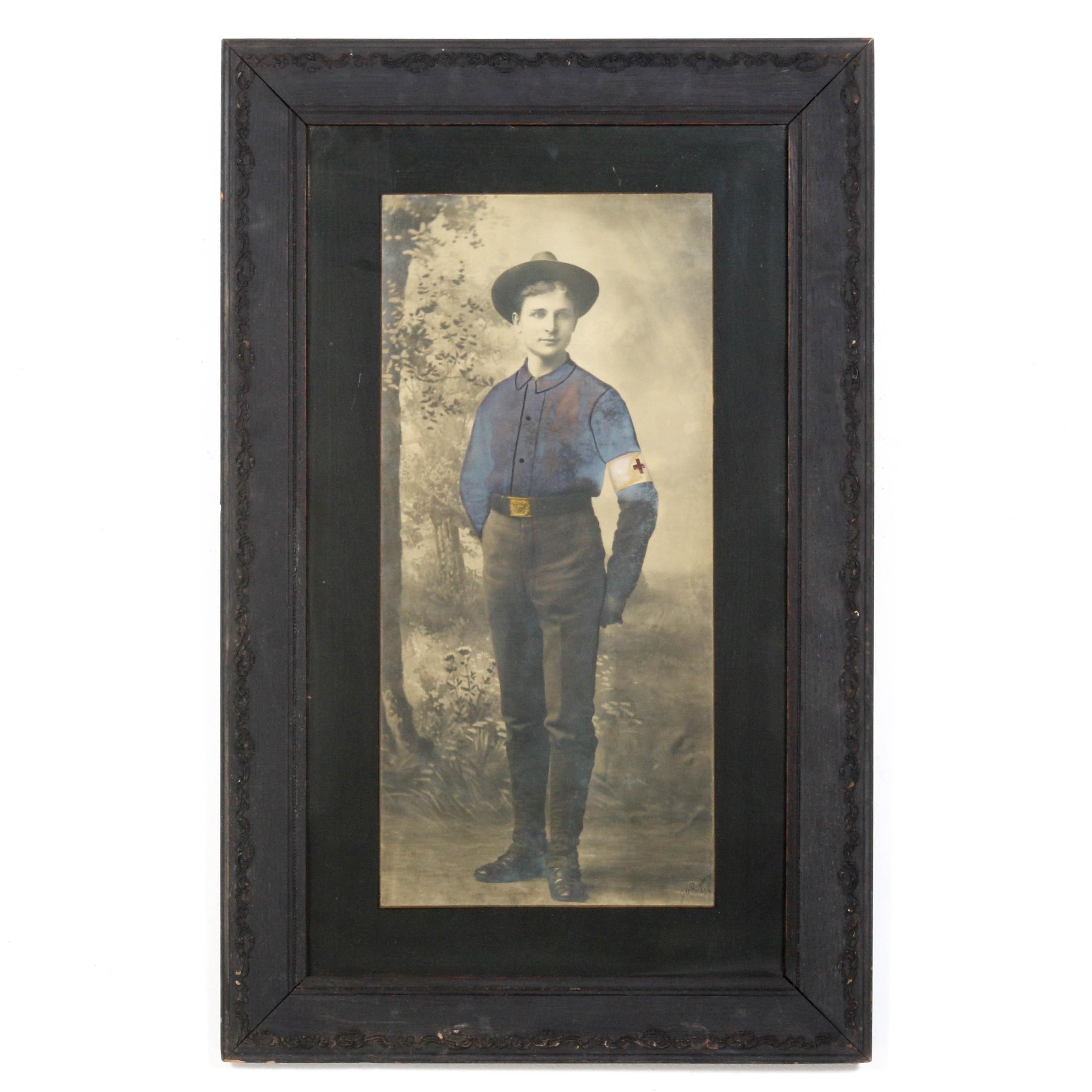 Hand Colored Photo of Veteran Spanish American War Medic