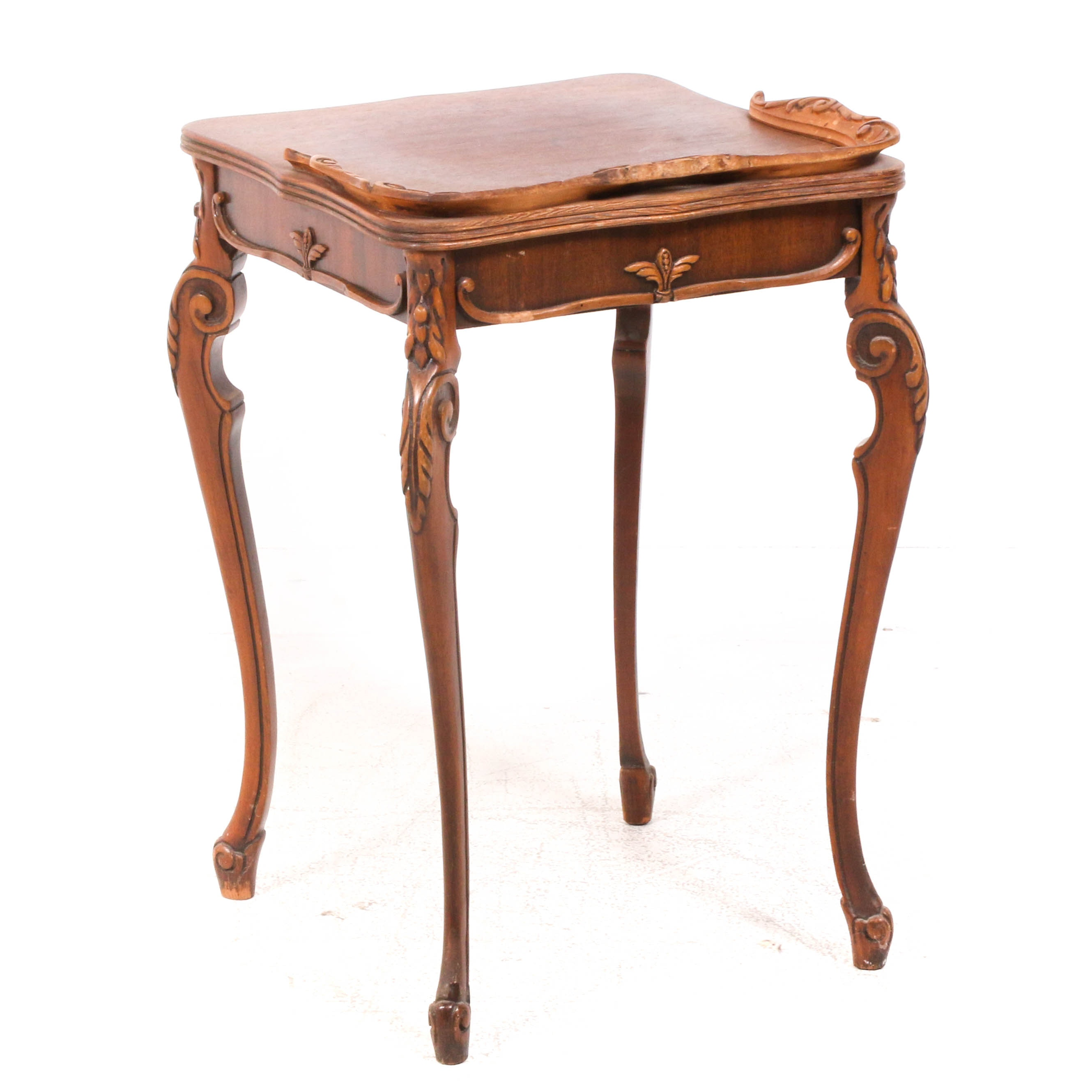 French Provincial Style Side Table, Antique