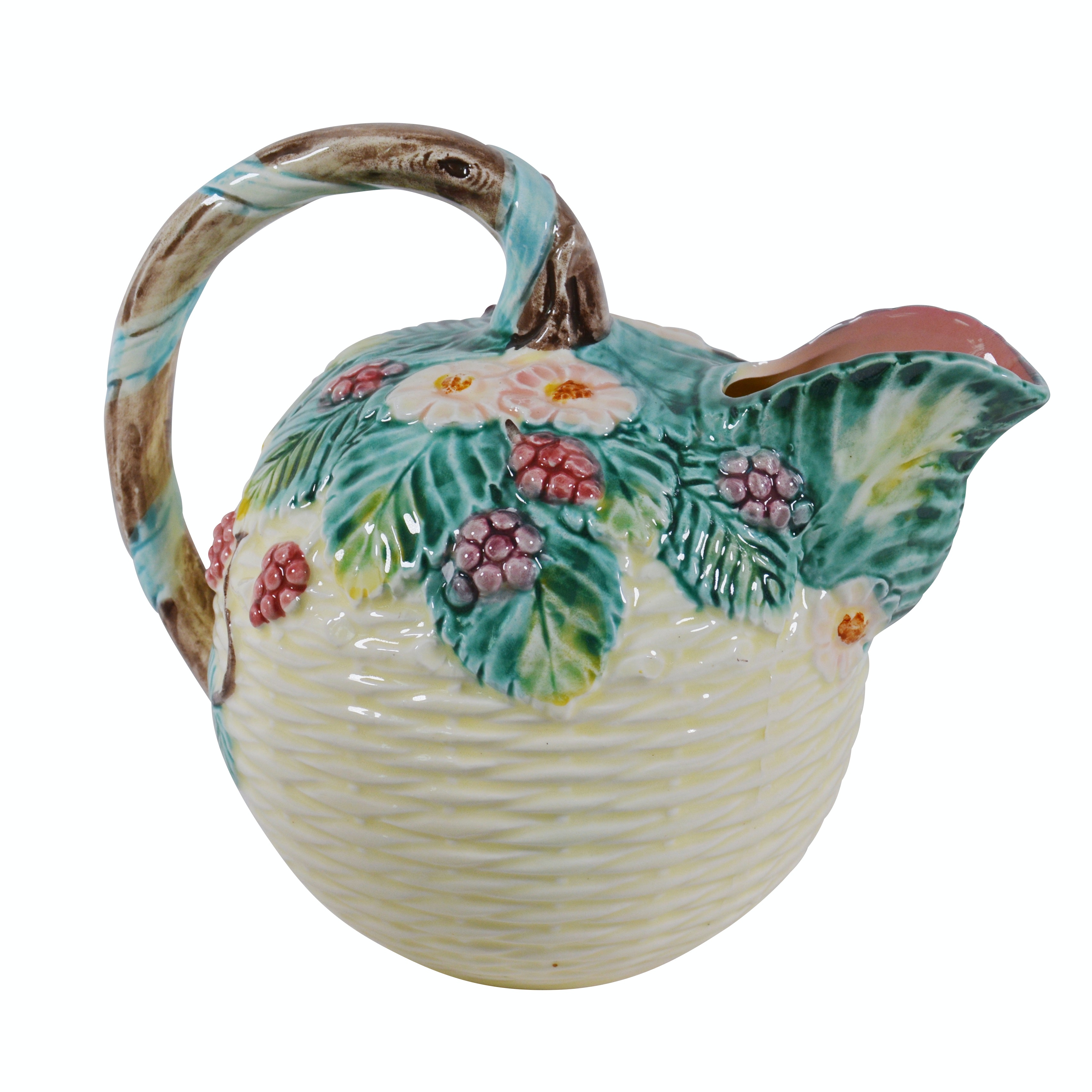 The Haldon Group Ceramic Berry Basket Pitcher, Vintage