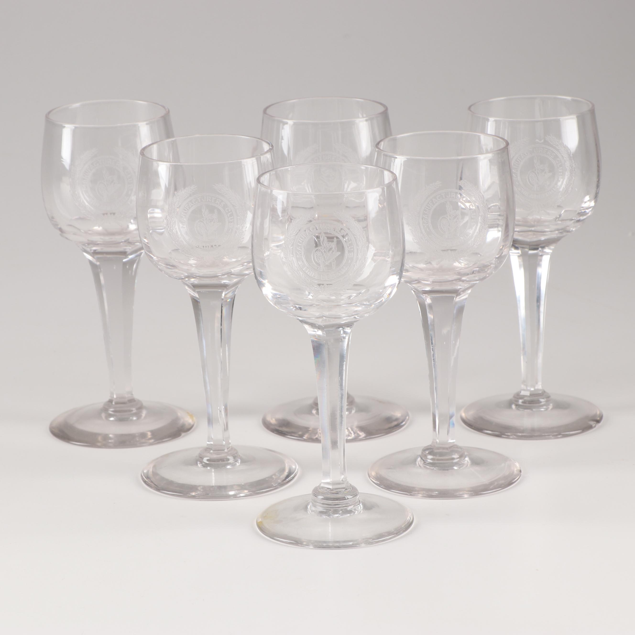 Manufacturers (Golf and Country) Club Philadelphia Toasting Glasses