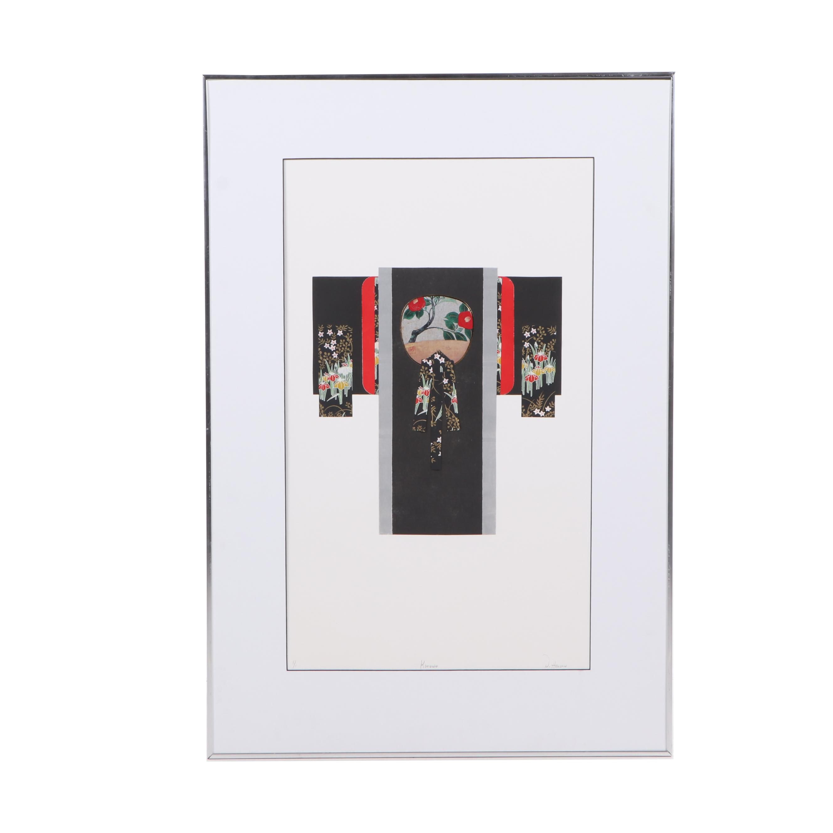 "Nancy Holden Monotype ""Kimono"", 1991"