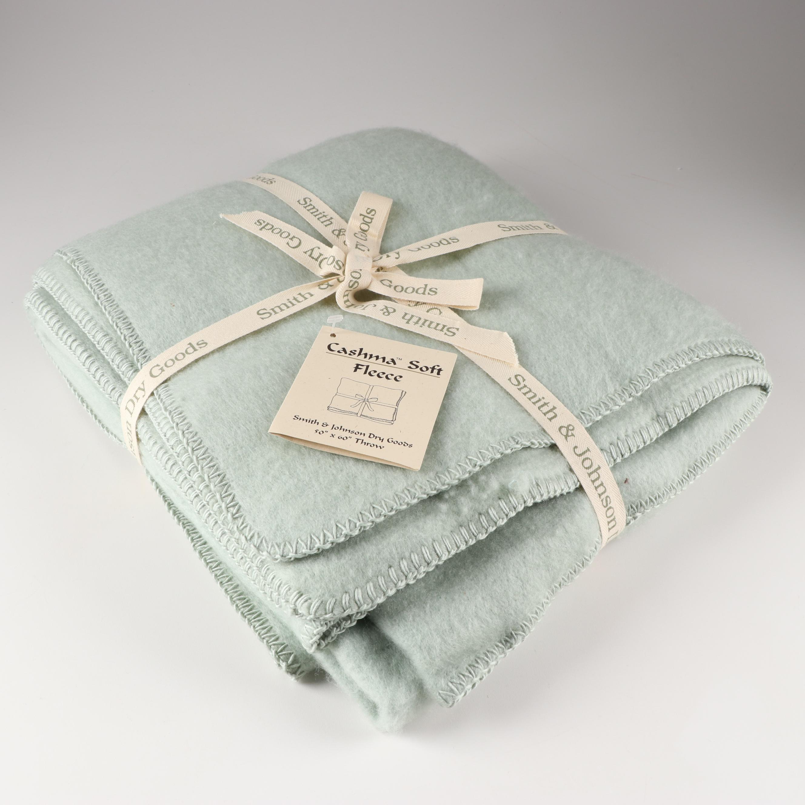 "Smith & Johnson ""Cashma Soft Fleece"" Throw Blanket"