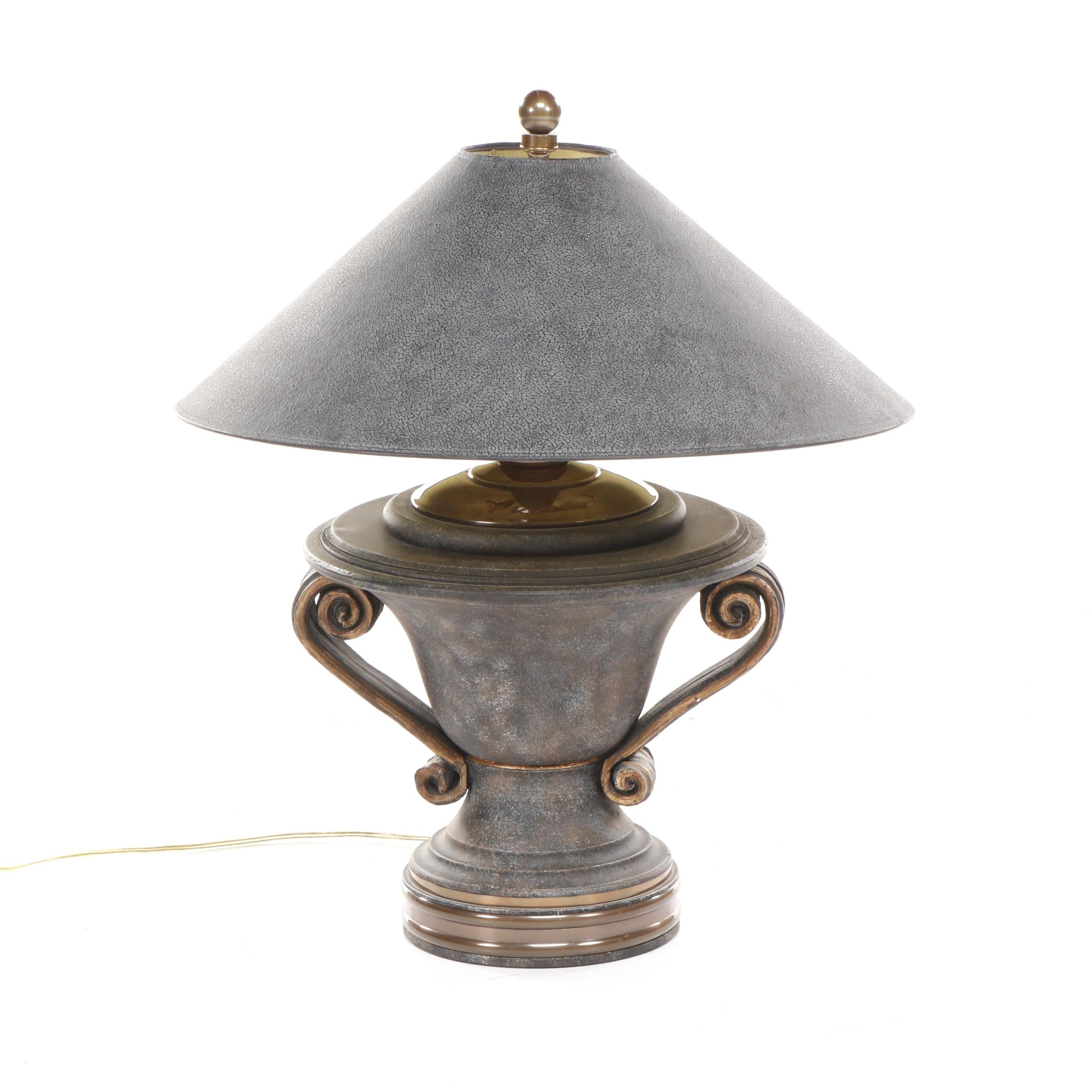 Large Ceramic and Metal Table Lamp