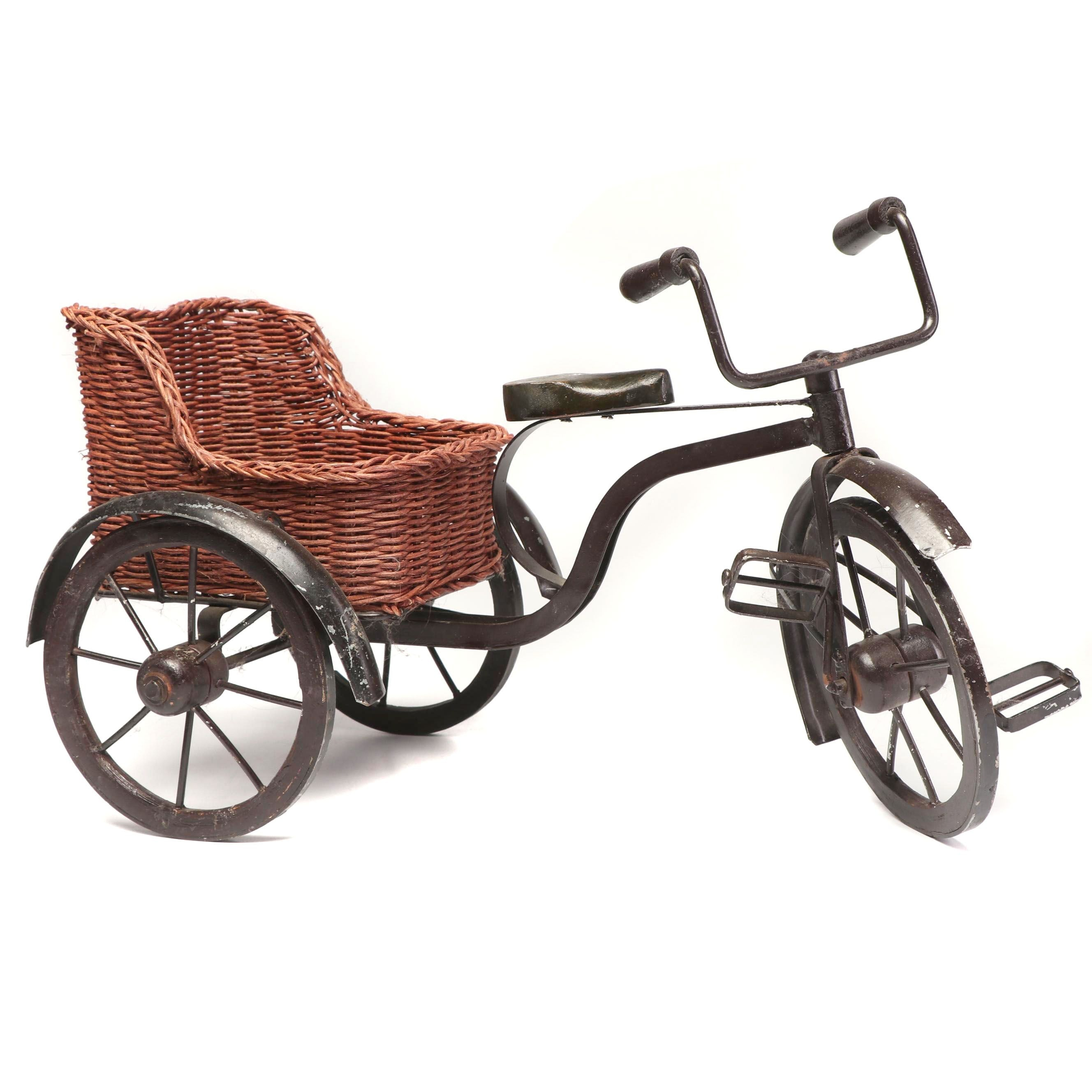 Decorative Miniature Tricycle with Basket