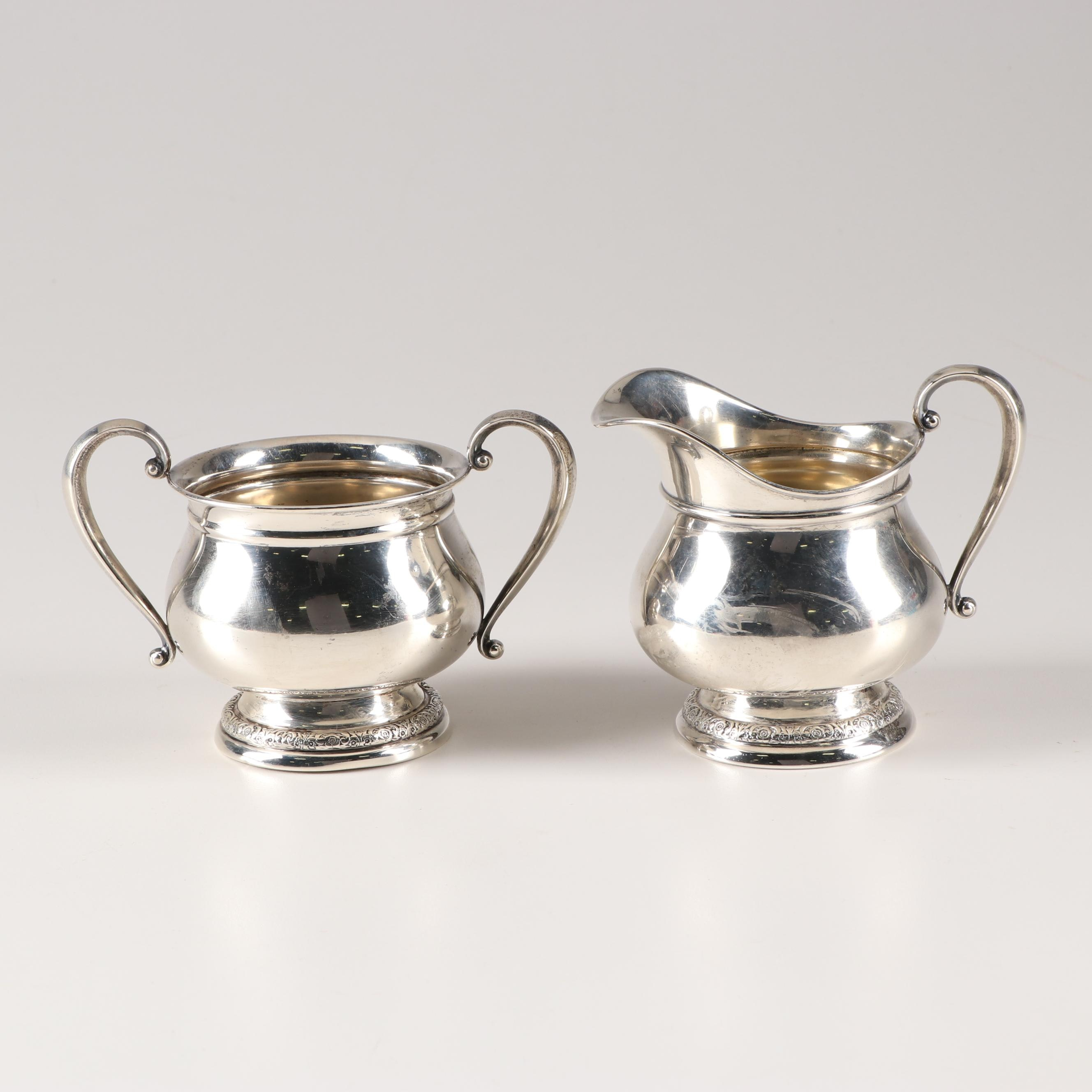 "International Sterling ""Prelude"" Creamer and Sugar Set"