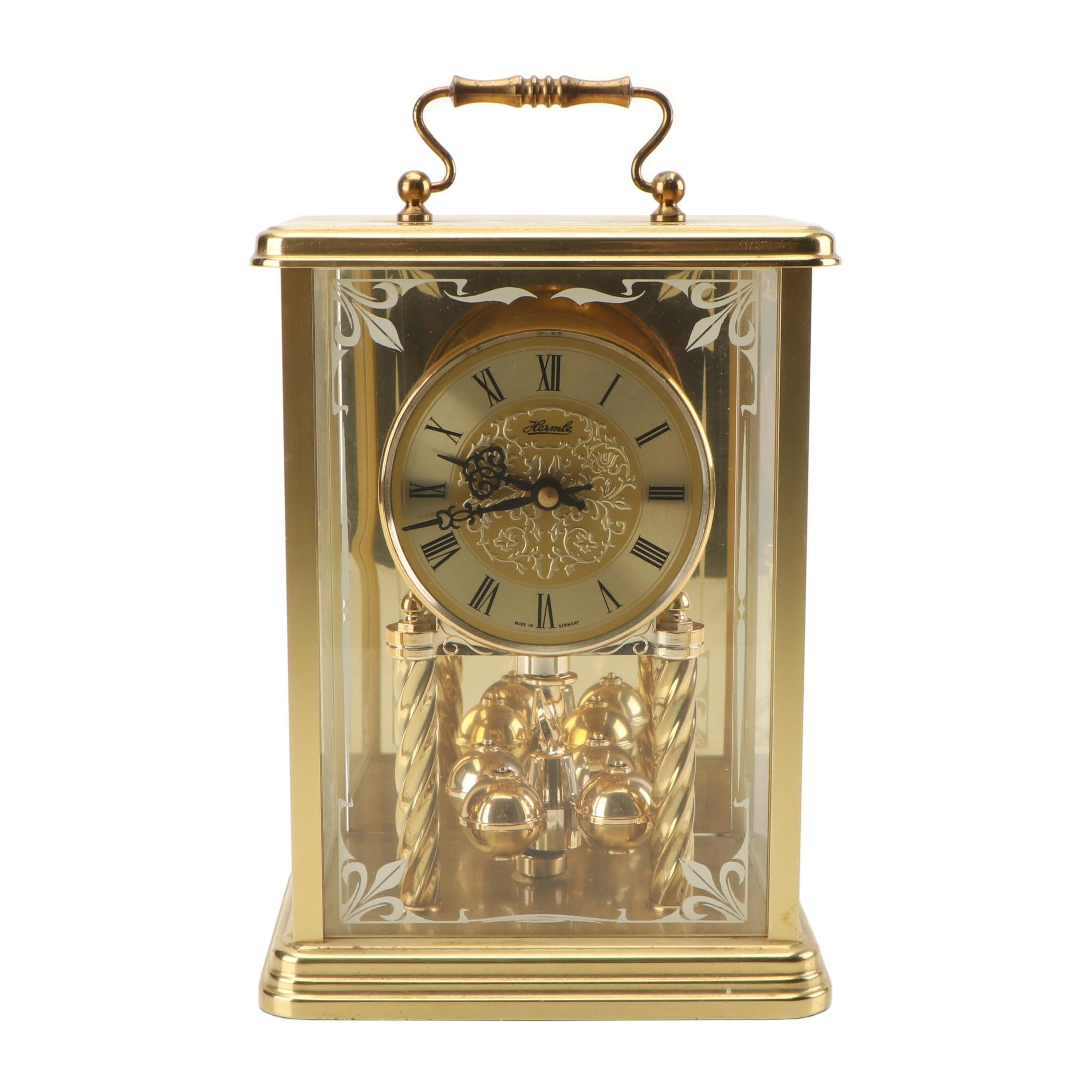 Franz Hermle German Brass Carriage Clock