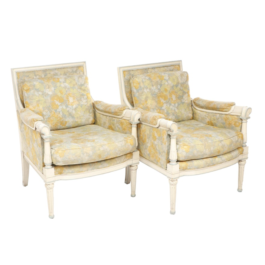 Tomlinson Sheraton Style Upholstered Armchairs Ebth