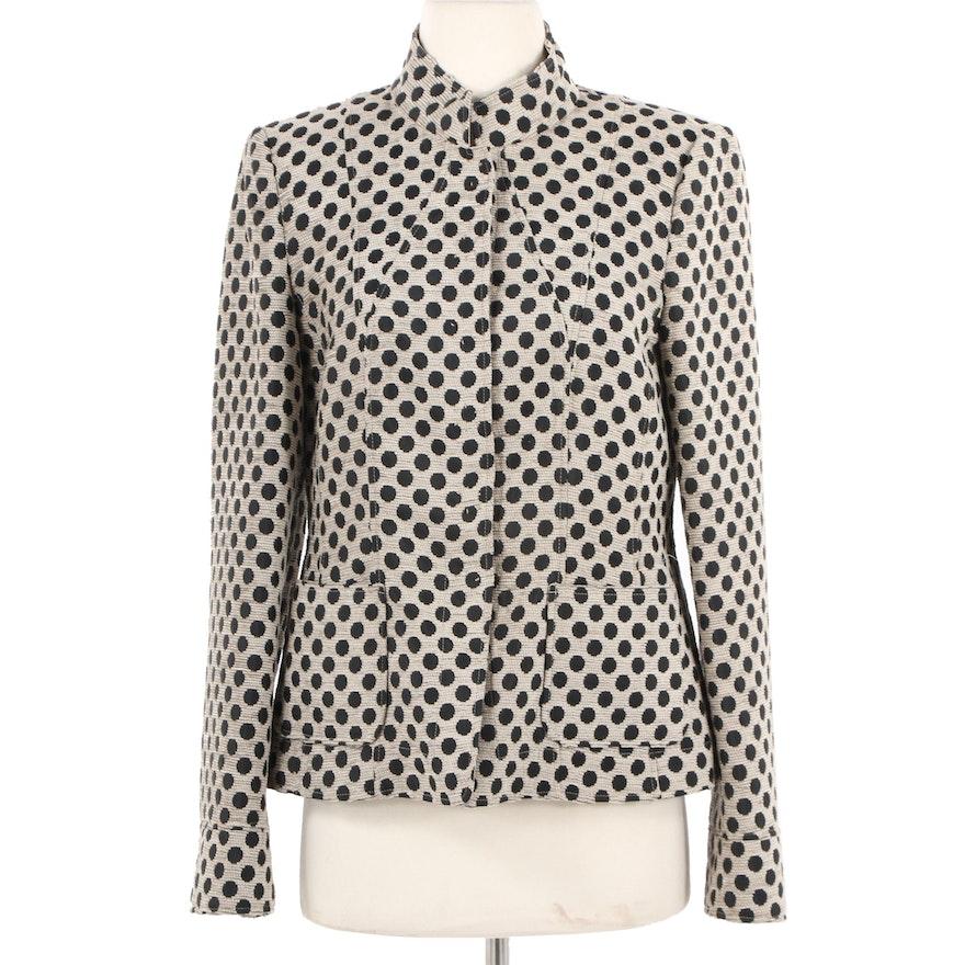 36c227d746d3 Women's Armani Collezioni Wool Blend Polka Dot Jacket : EBTH