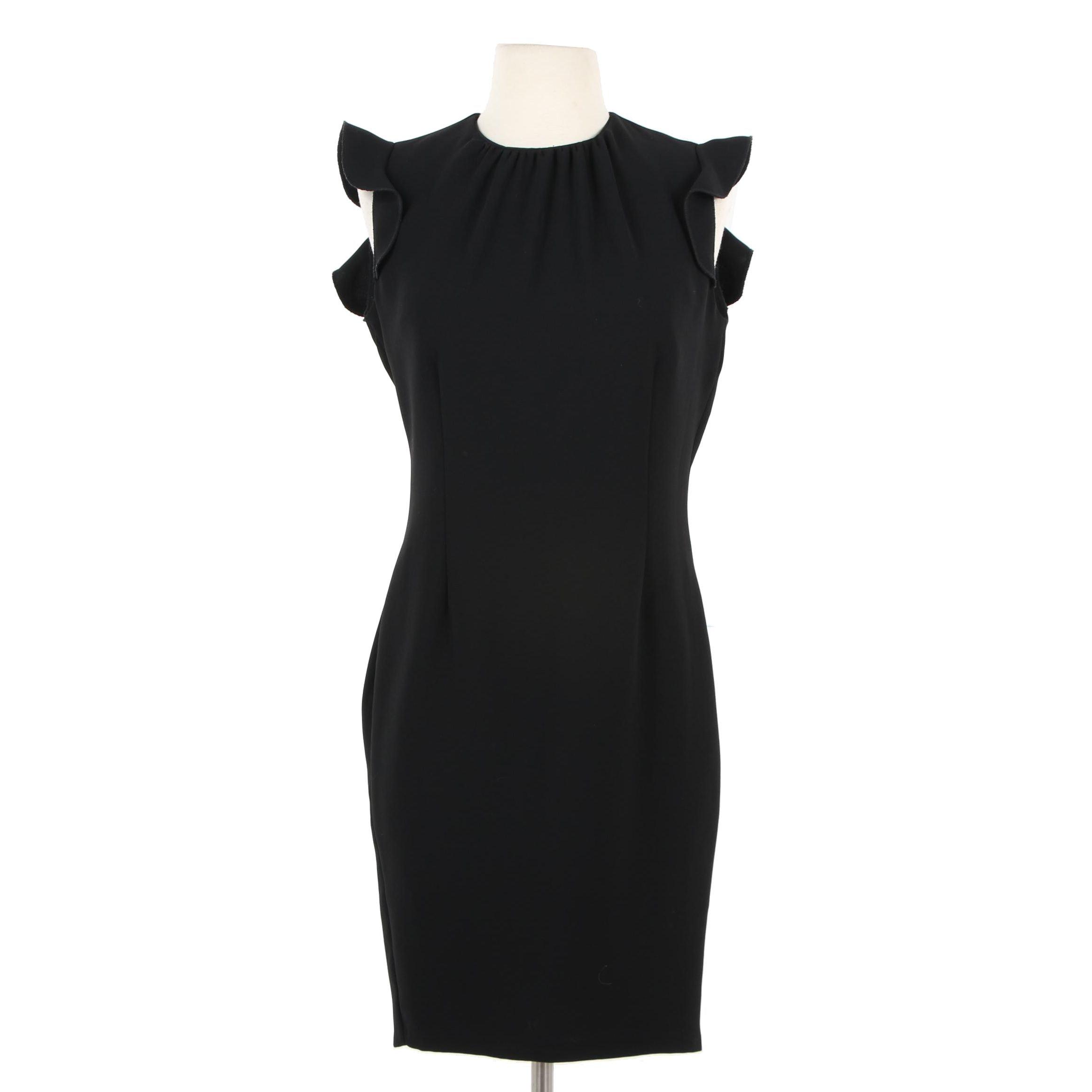 Rinascimento Black Prima Linea Sheath Dress