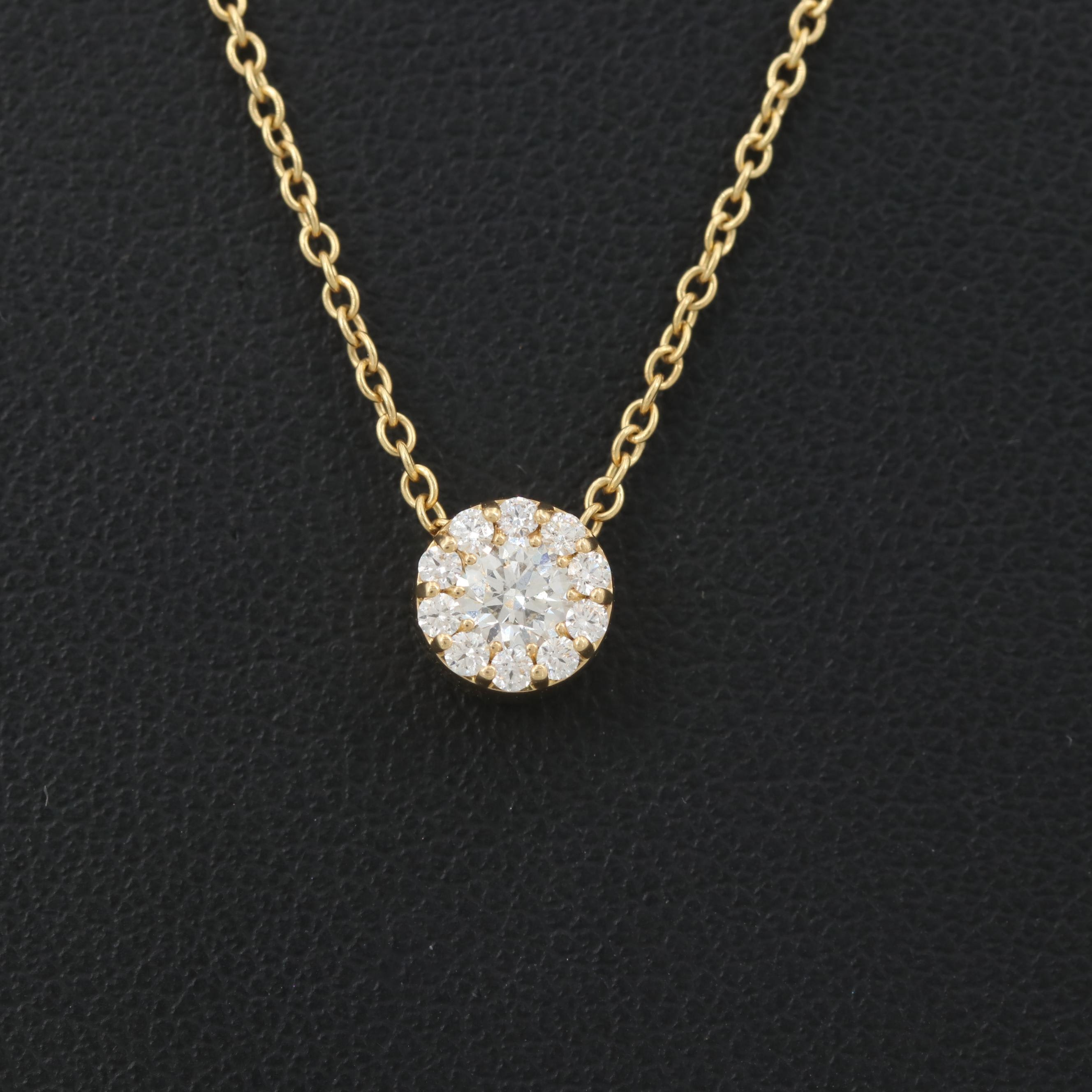 """18K Yellow Gold """"Hearts on Fire"""" Diamond Pendant Necklace"""