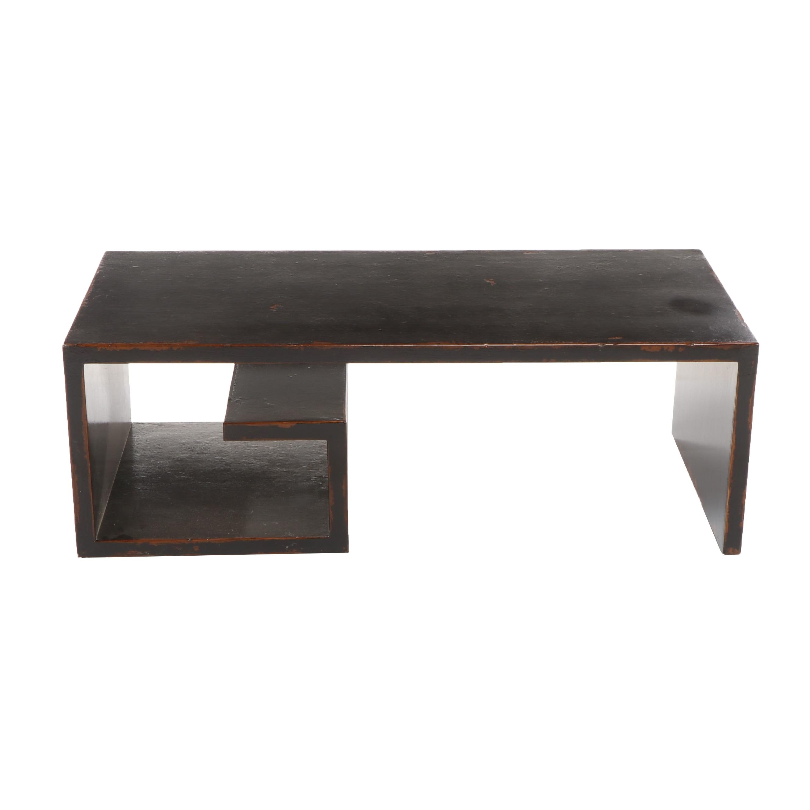 Modern Style Lacquered Wooden Coffee Table