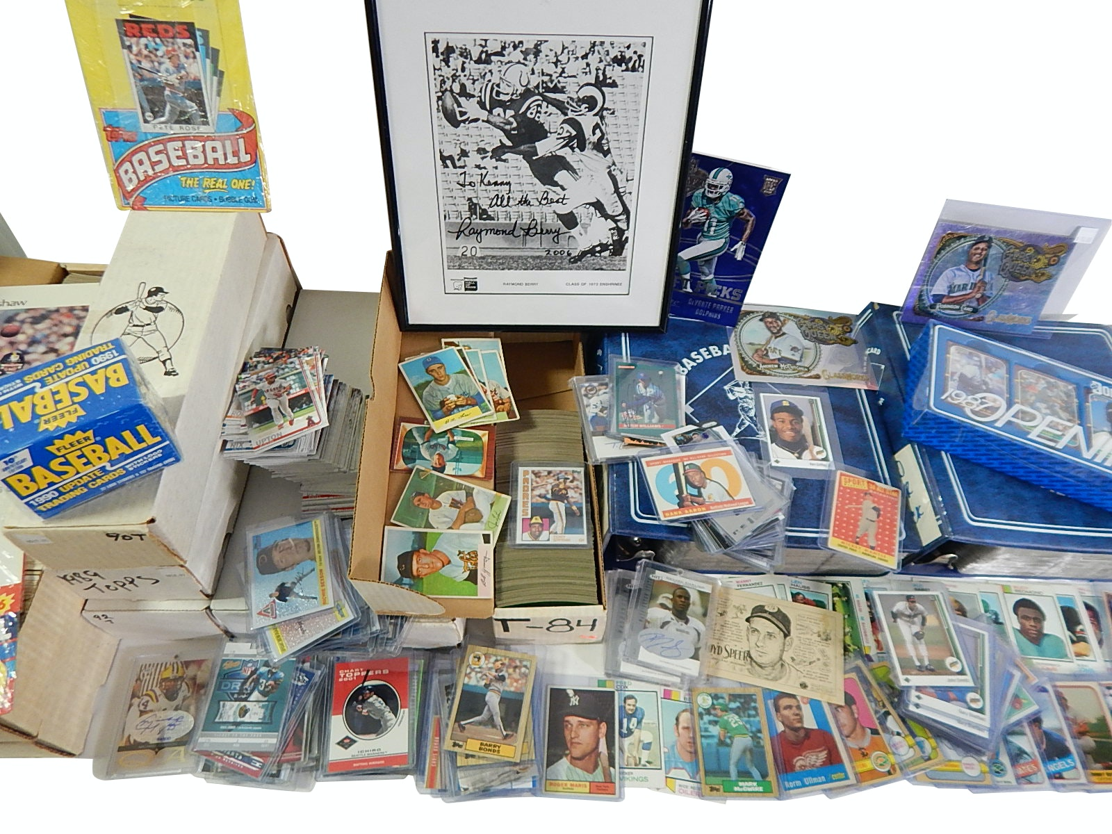 Sports Card Collection with 1958 Topps M. Mantle #487 - Around 7000 Count