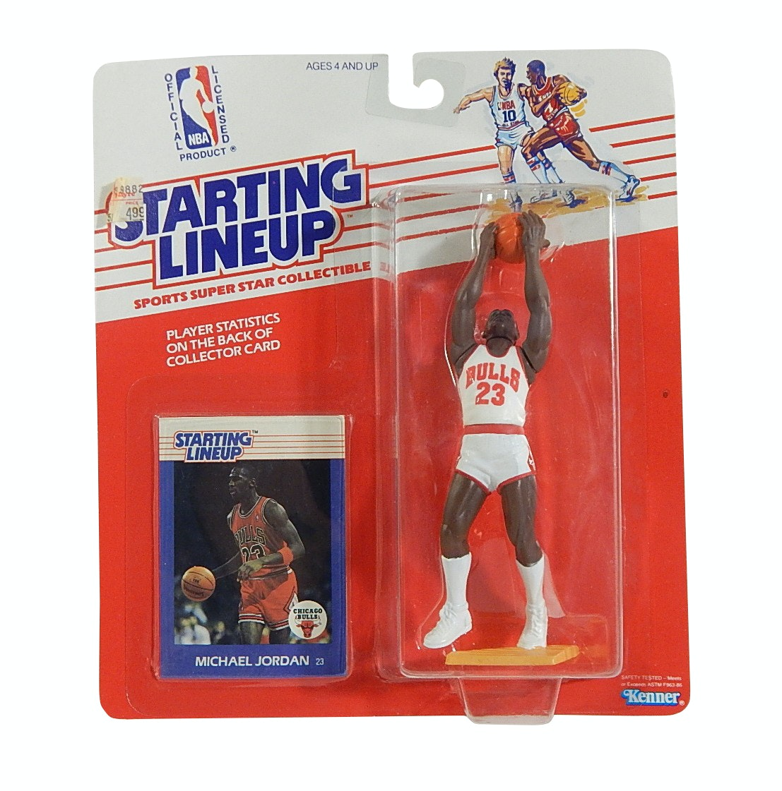 1988 Michael Jordan Chicago Bulls Rookie Starting Lineup Action Figure and Card