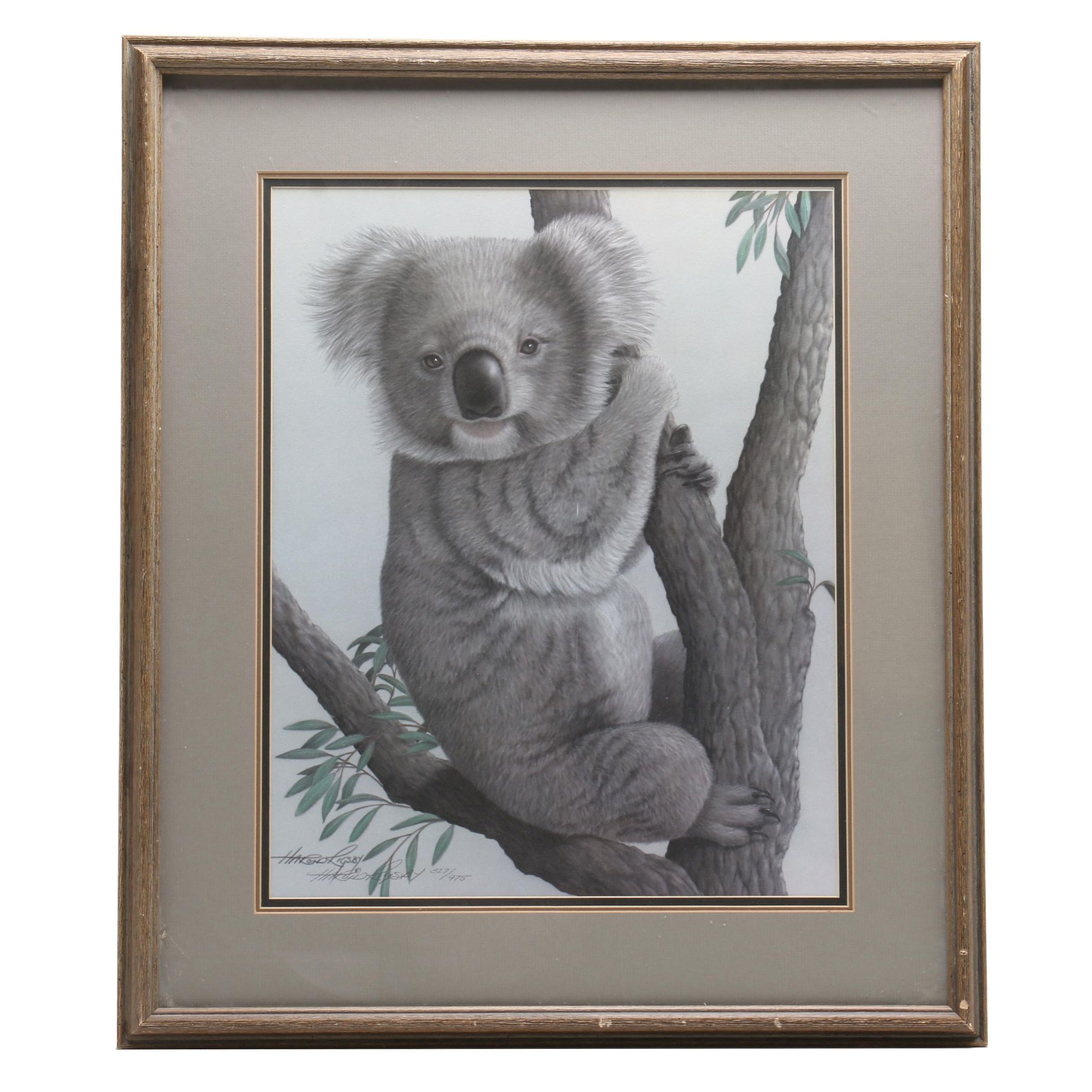 Harold Rigsby Offset Lithograph of a Koala