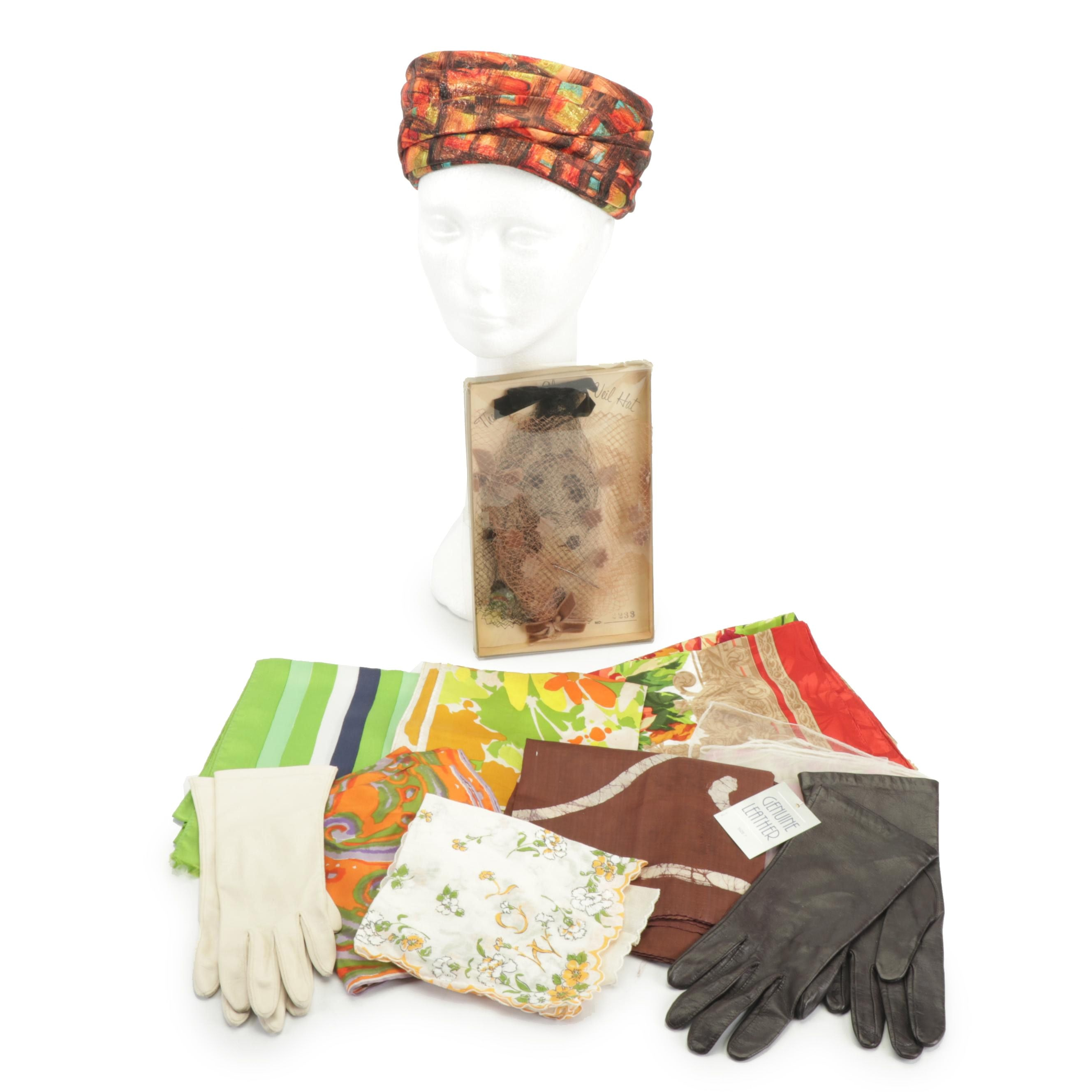 Leather Gloves, Scarves, and Miss Eileen Hat