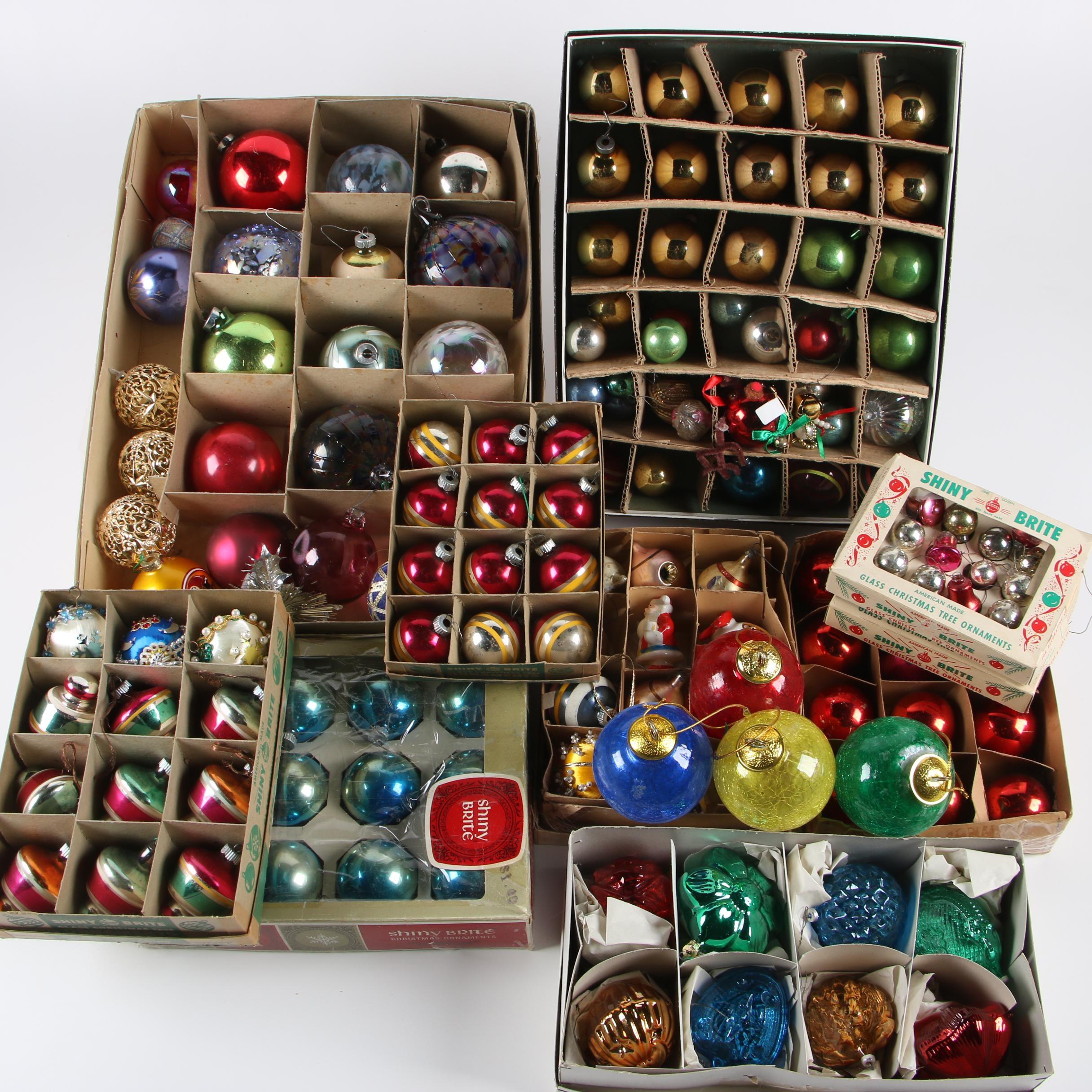 Christmas Glass and Plastic Ball Ornament Assortment