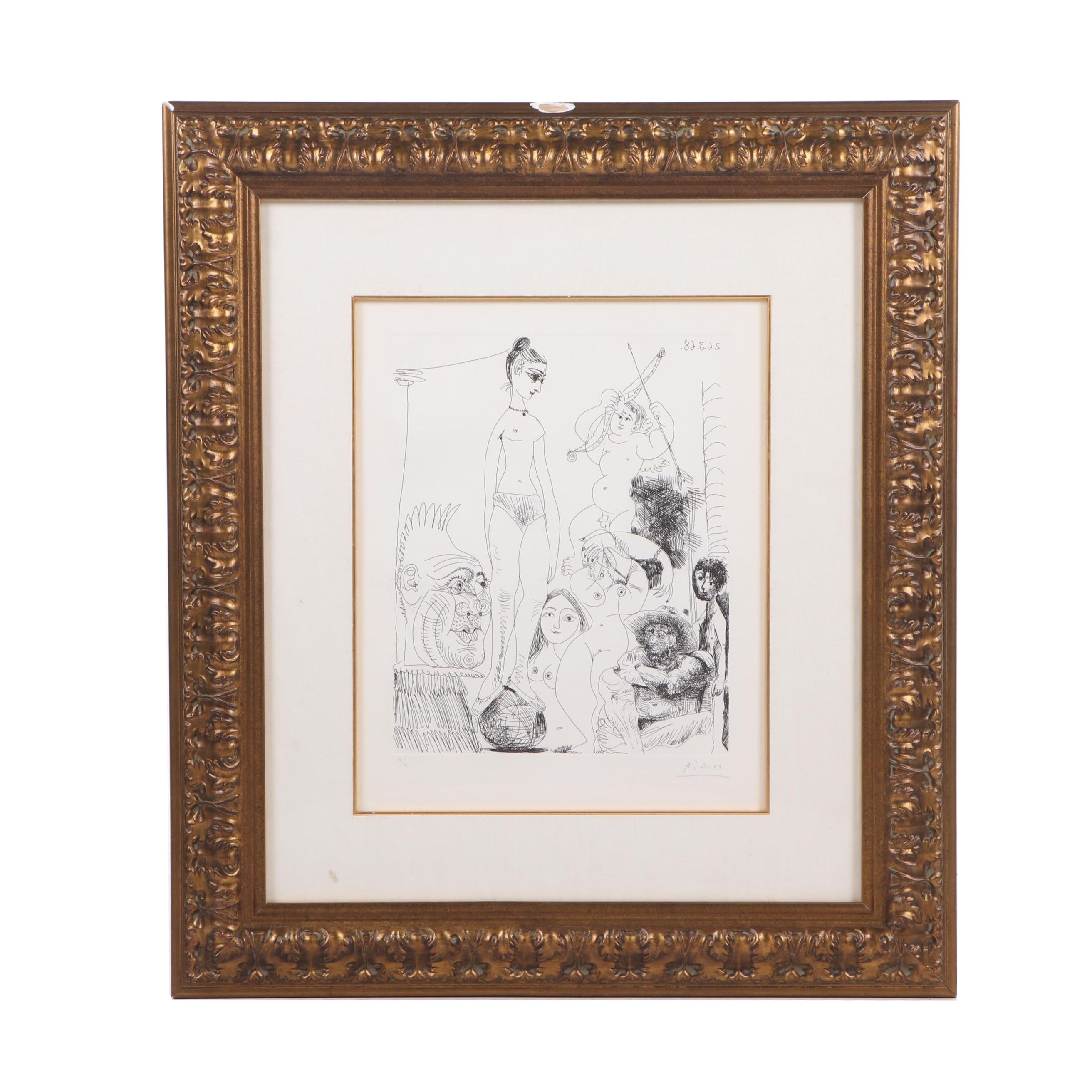 """Pablo Picasso Etching from """"347 Gravures"""""""