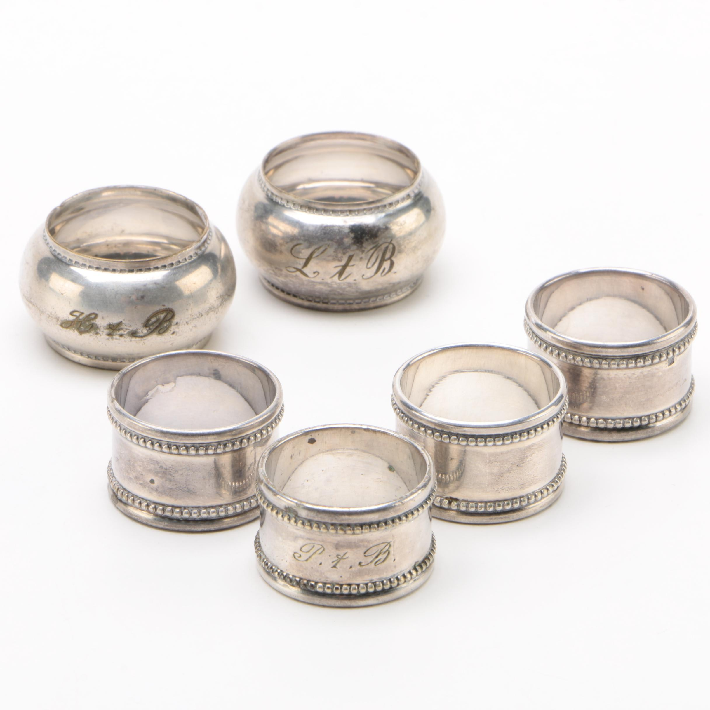 Christofle Silver Plate Napkin Rings with Others