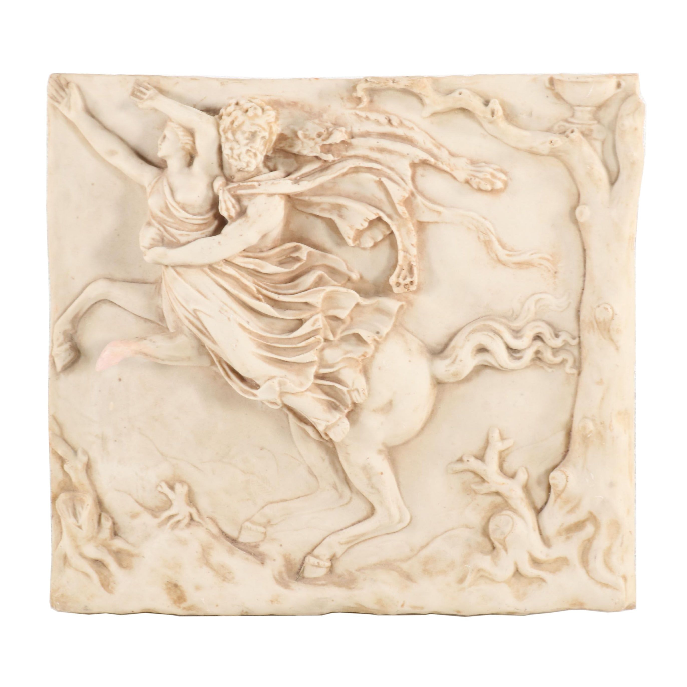 Hellenistic Style Composite Bas Relief of a Centaur Capturing a Woman