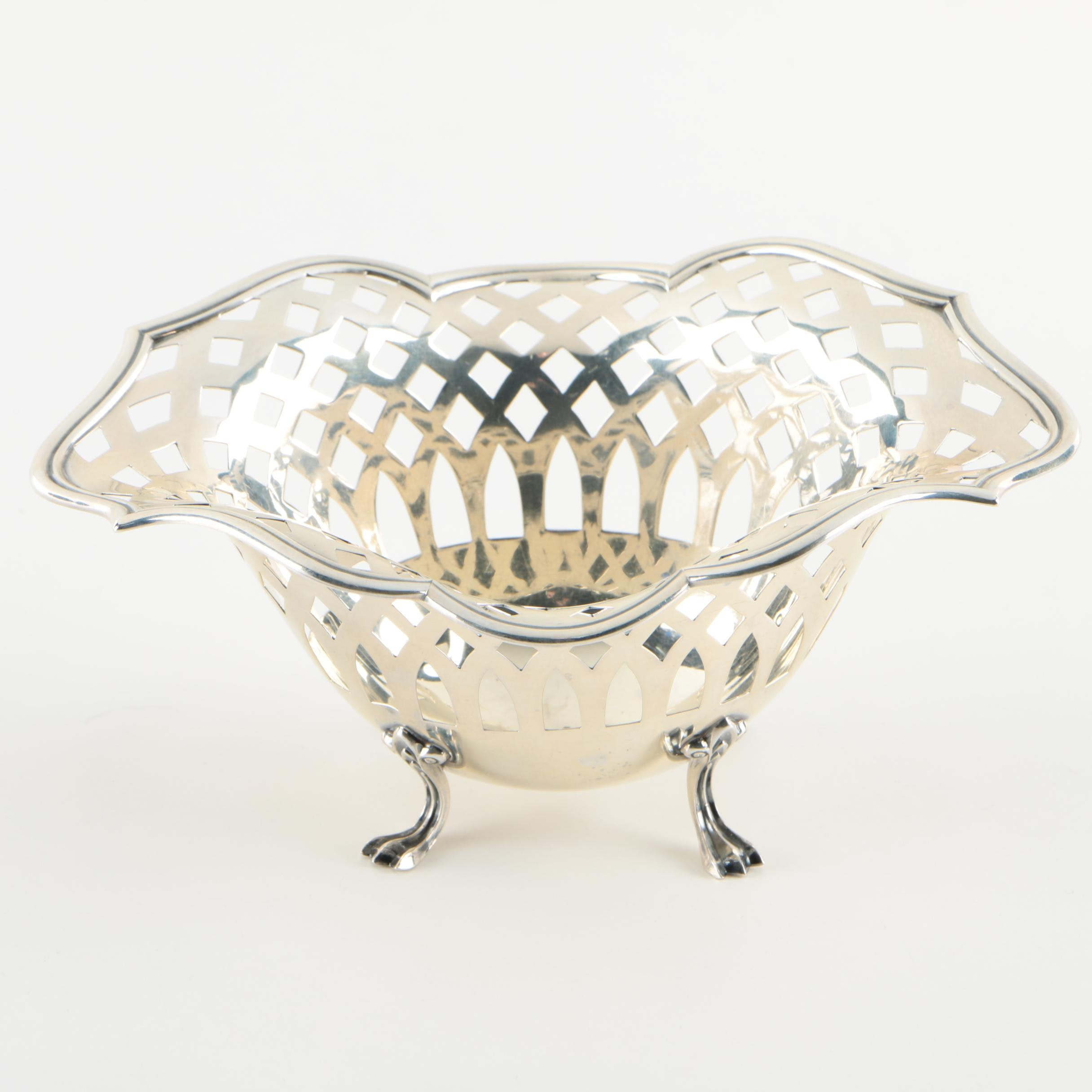 Towle Sterling Silver Pierced Bowl, Mid-Century