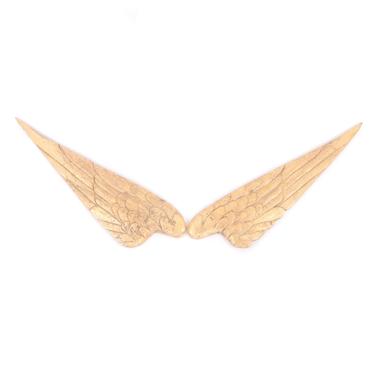 Folk Art Carved Wooden Wings