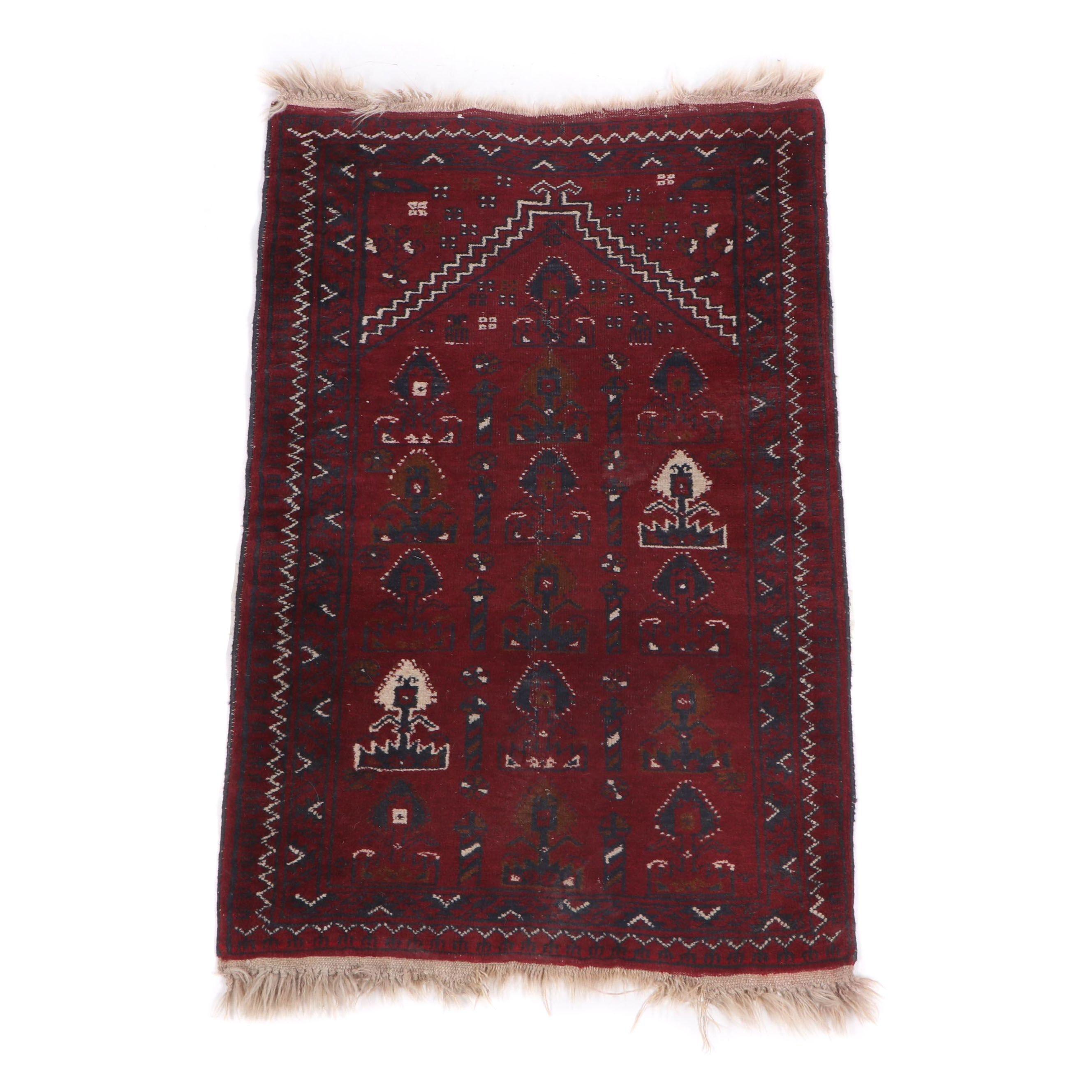 Hand-Knotted Turkmen Ersari Wool Rug