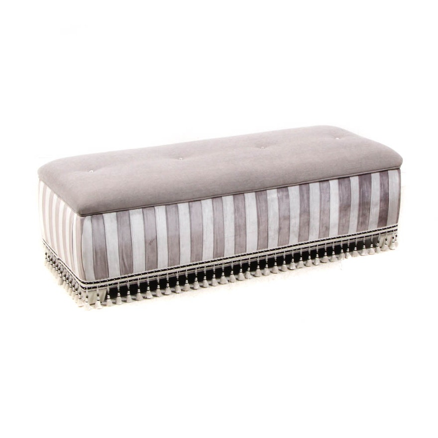 Contemporary Upholstered Storage Bench