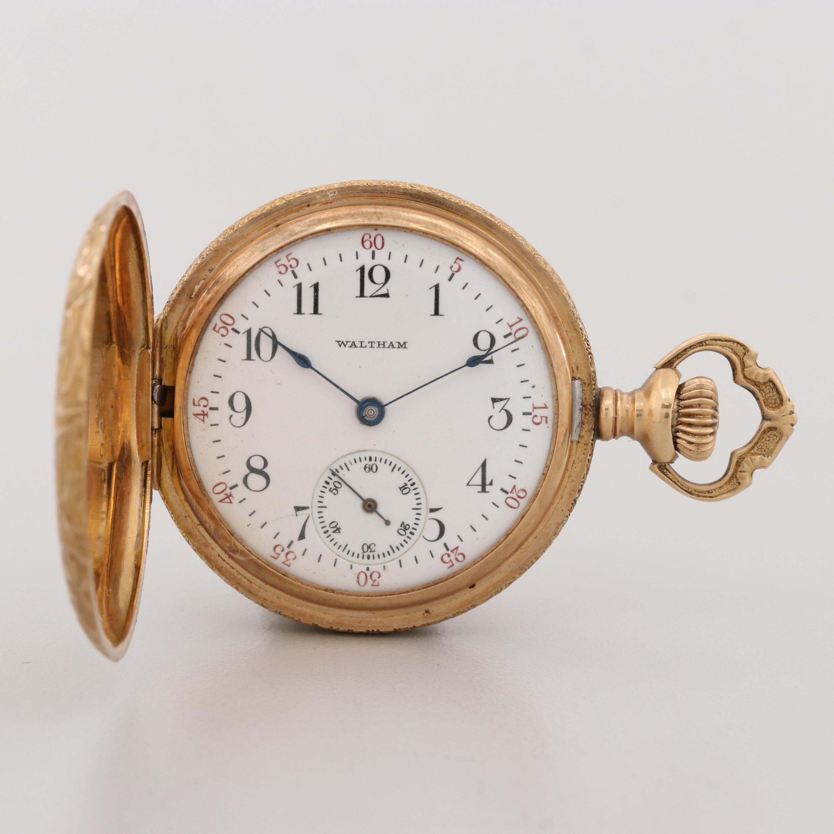 Antique Waltham 14K Yellow Gold Pocket Watch