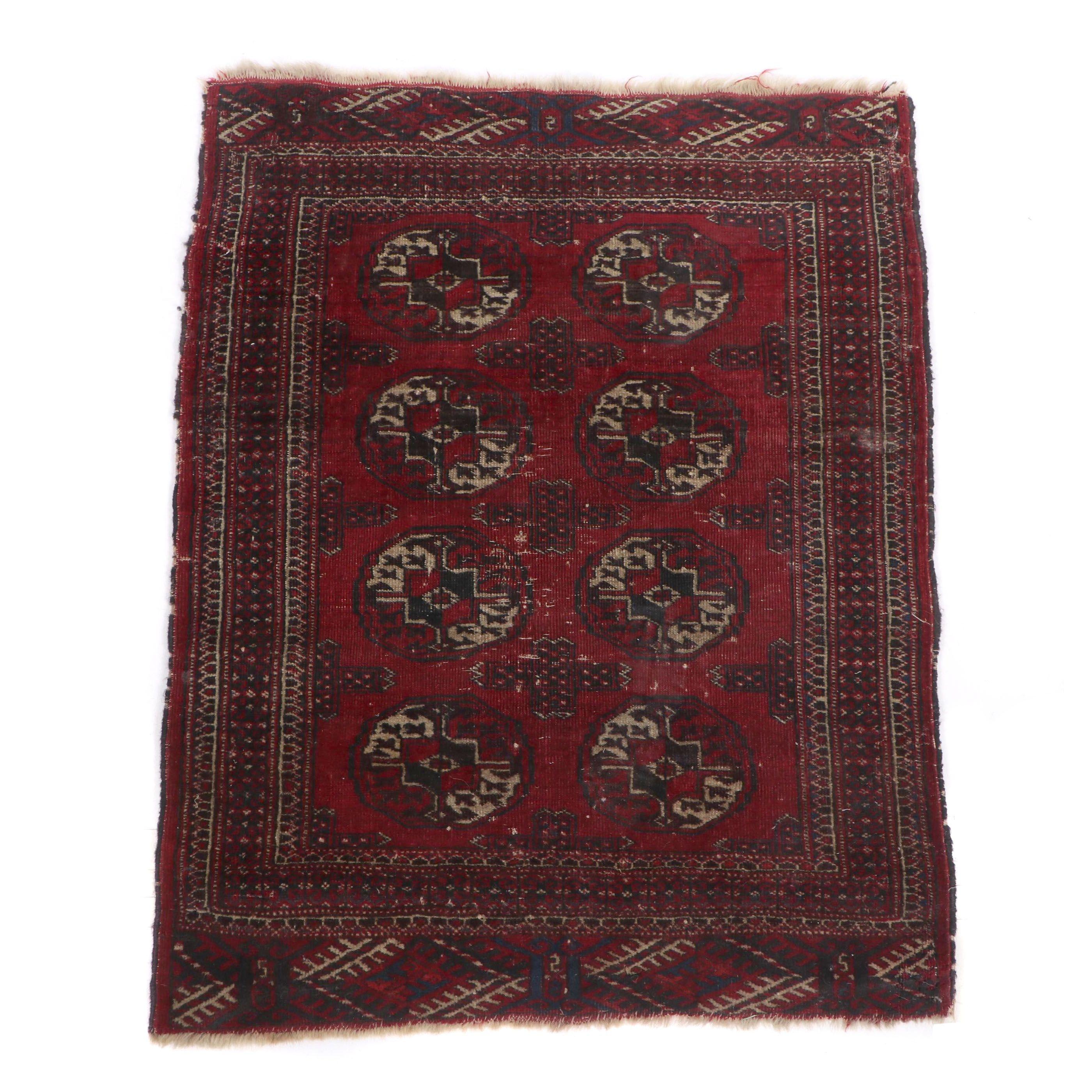 Hand-Knotted Tekke Bokhara Wool Rug