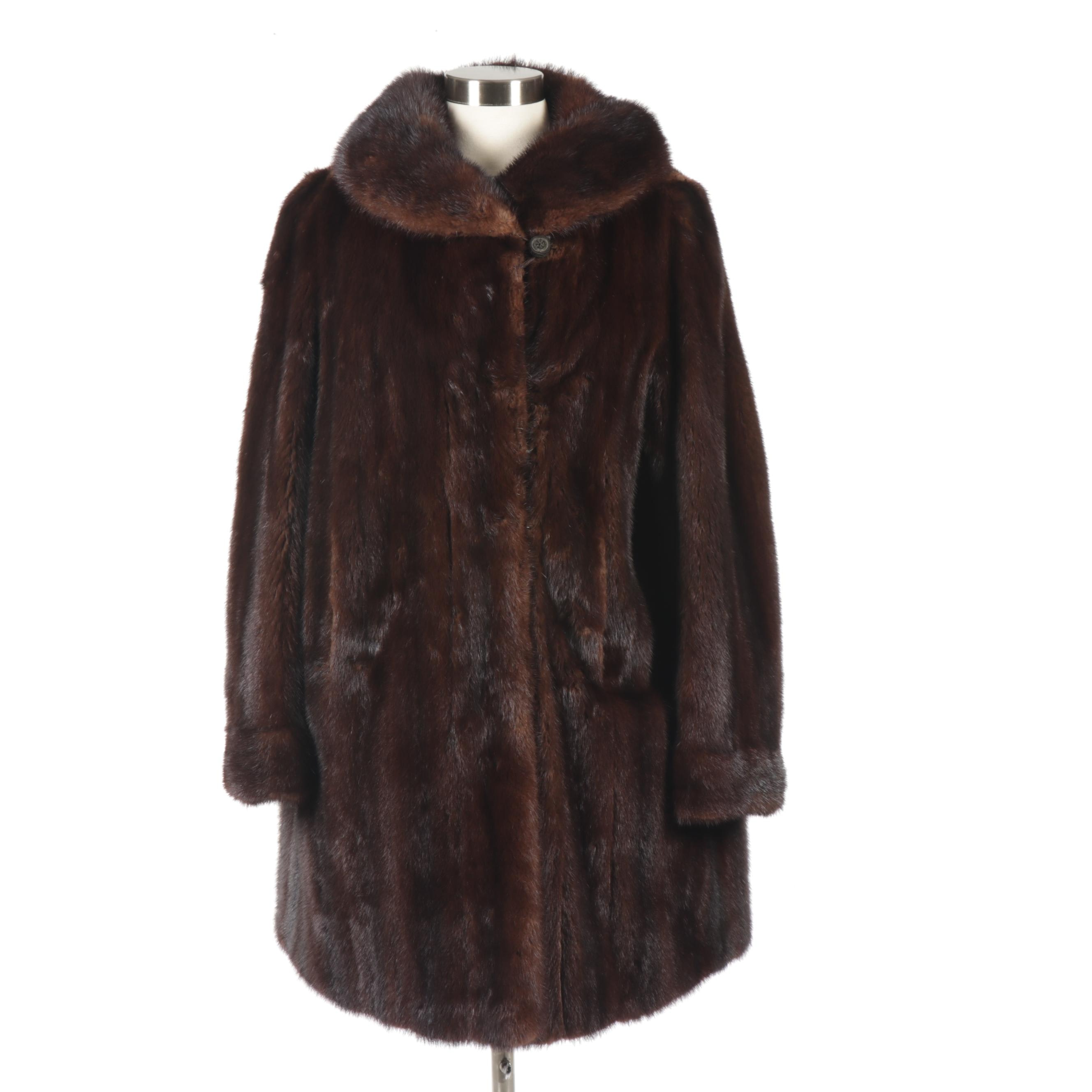 Women's Mahogany Mink Fur Coat, Vintage