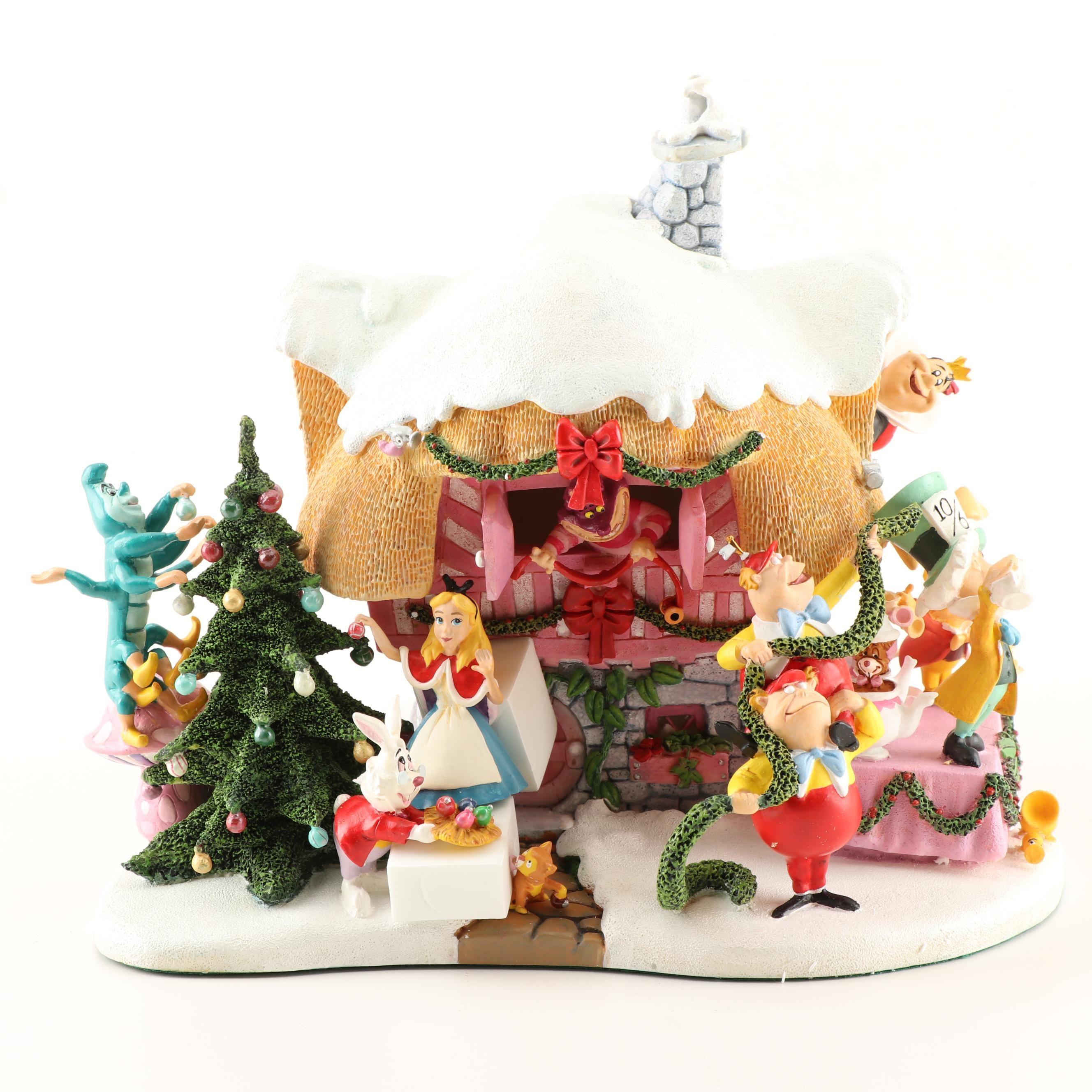 "The Danbury Mint Disney ""Alice in Wonderland"" Village"